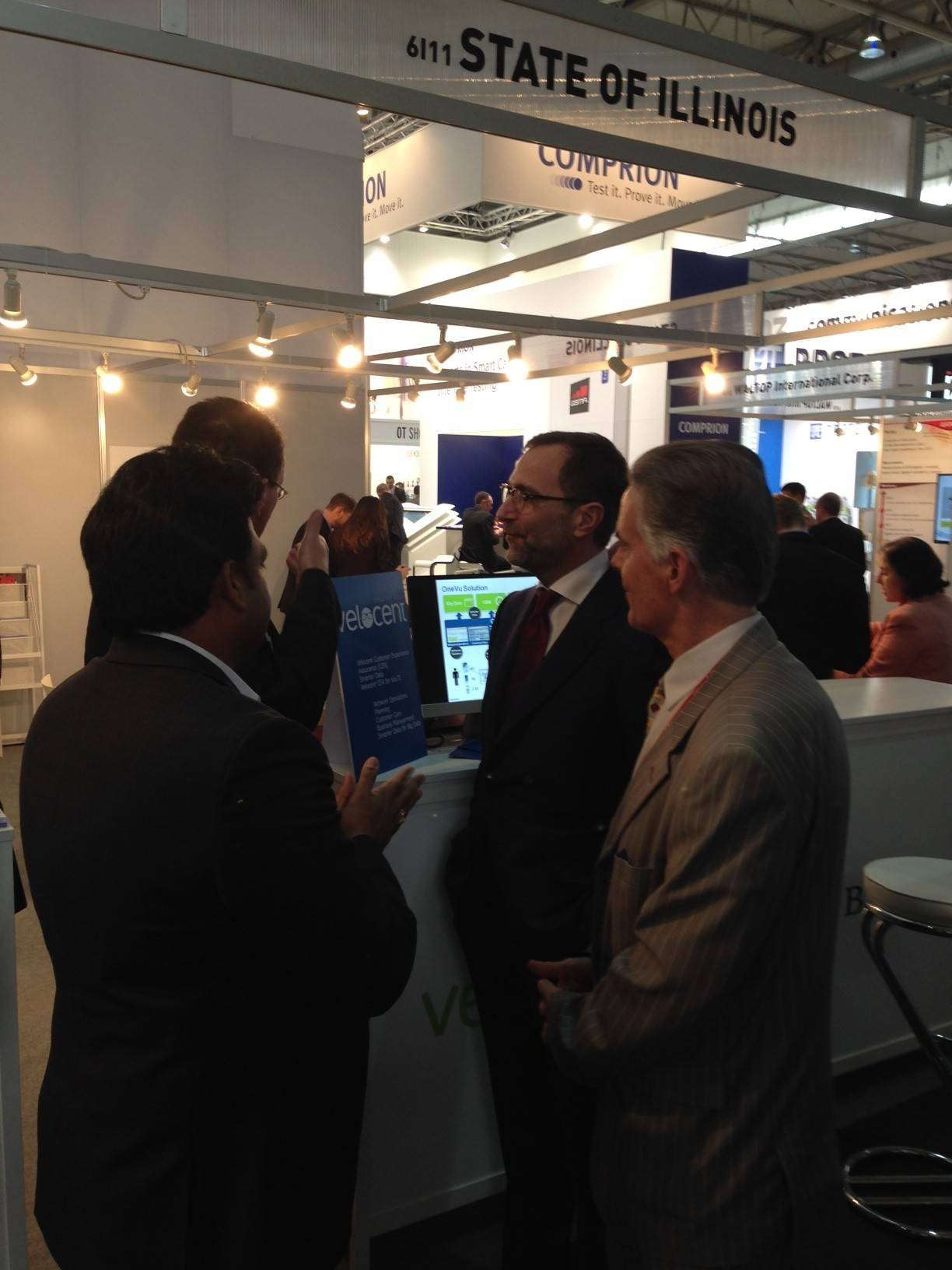 Velocent Systems Inc. of Naperville had an exhibit booth at the Mobile World Congress this week in Barcelona, Spain.