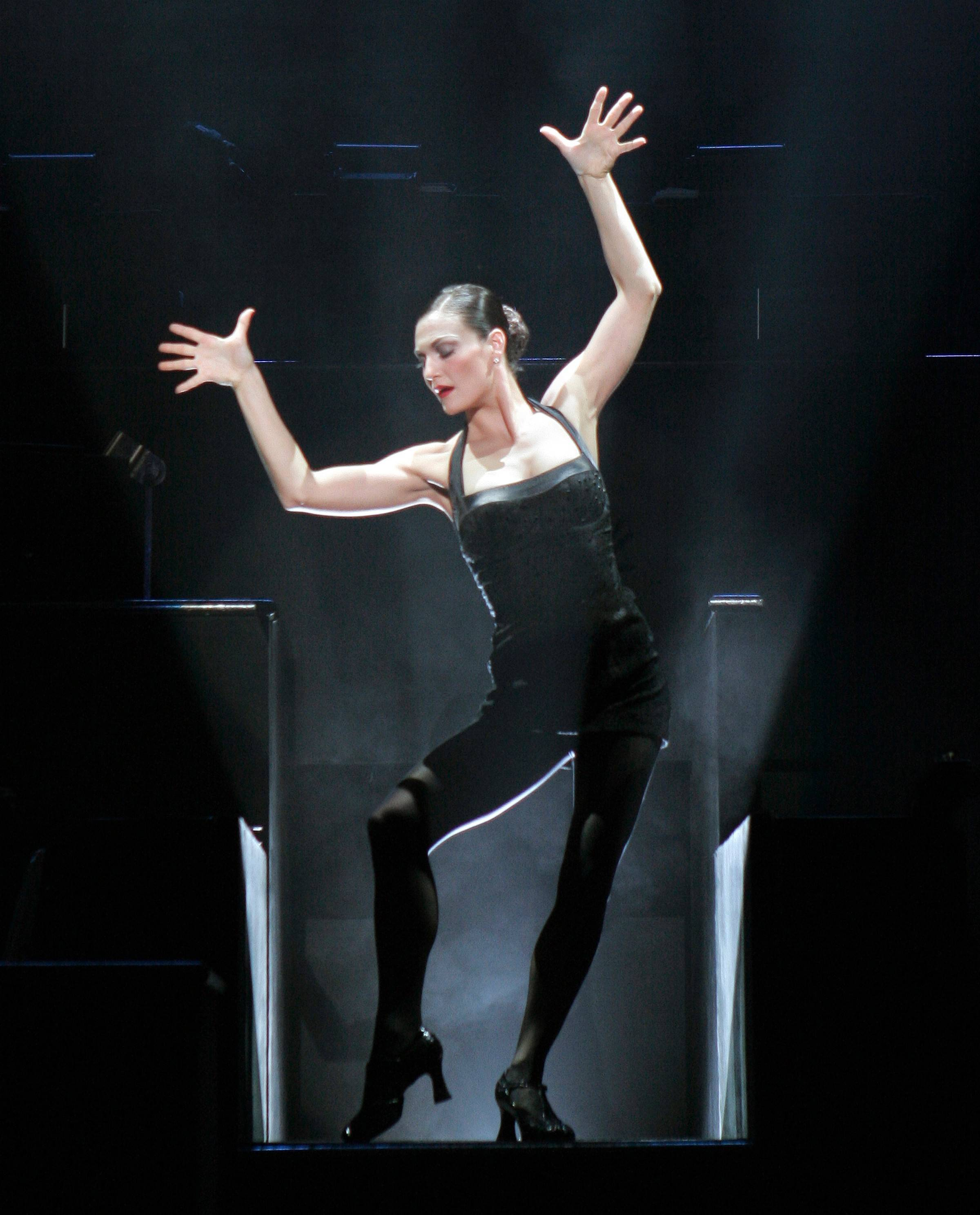 "Terra C. MacLeod stars as the dancing killer Velma Kelly in the national tour of the Broadway smash ""Chicago"" at the Bank of America Theatre."