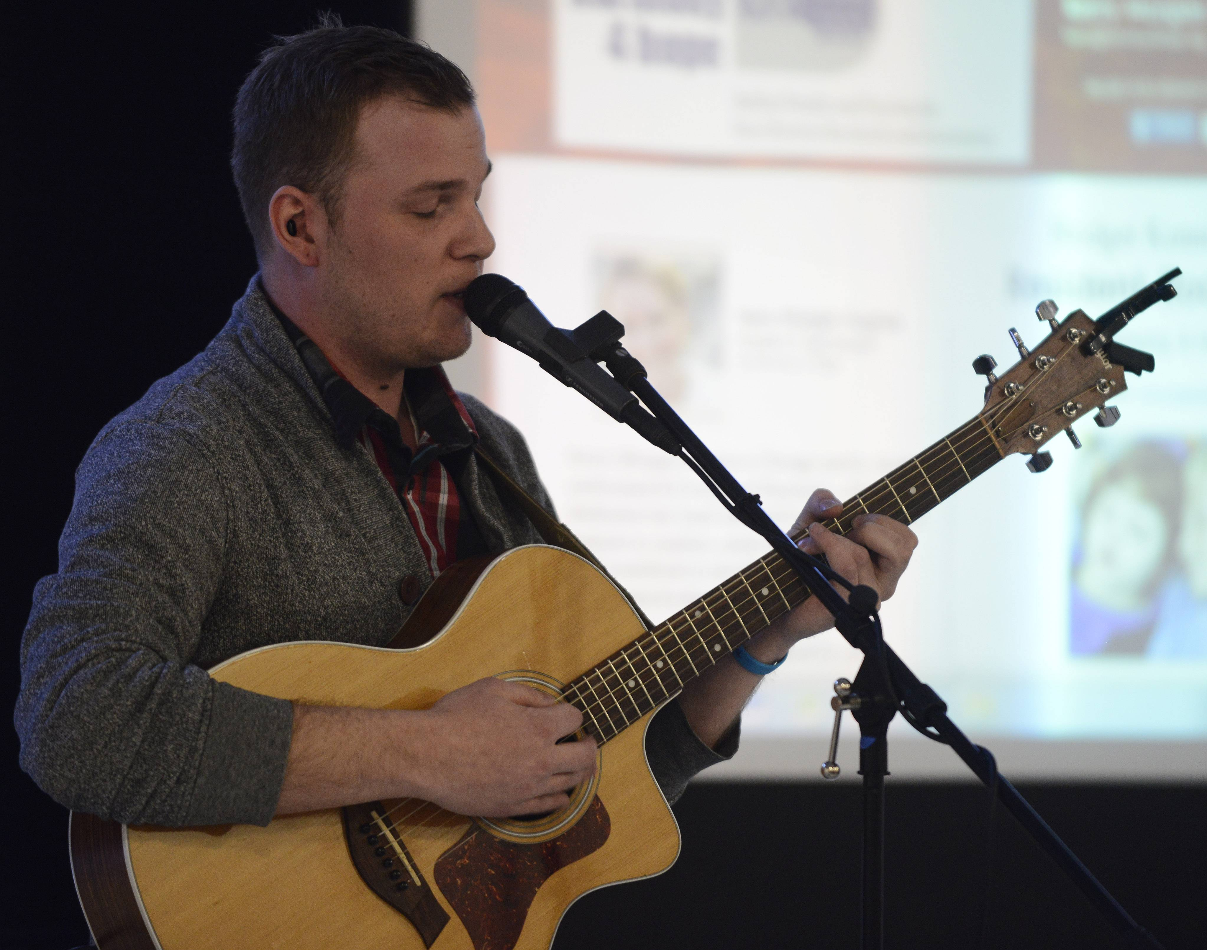 Karl Vincent Roth, a graduate of the Barrington schools, returned for a live music event with students at North Barrington School.