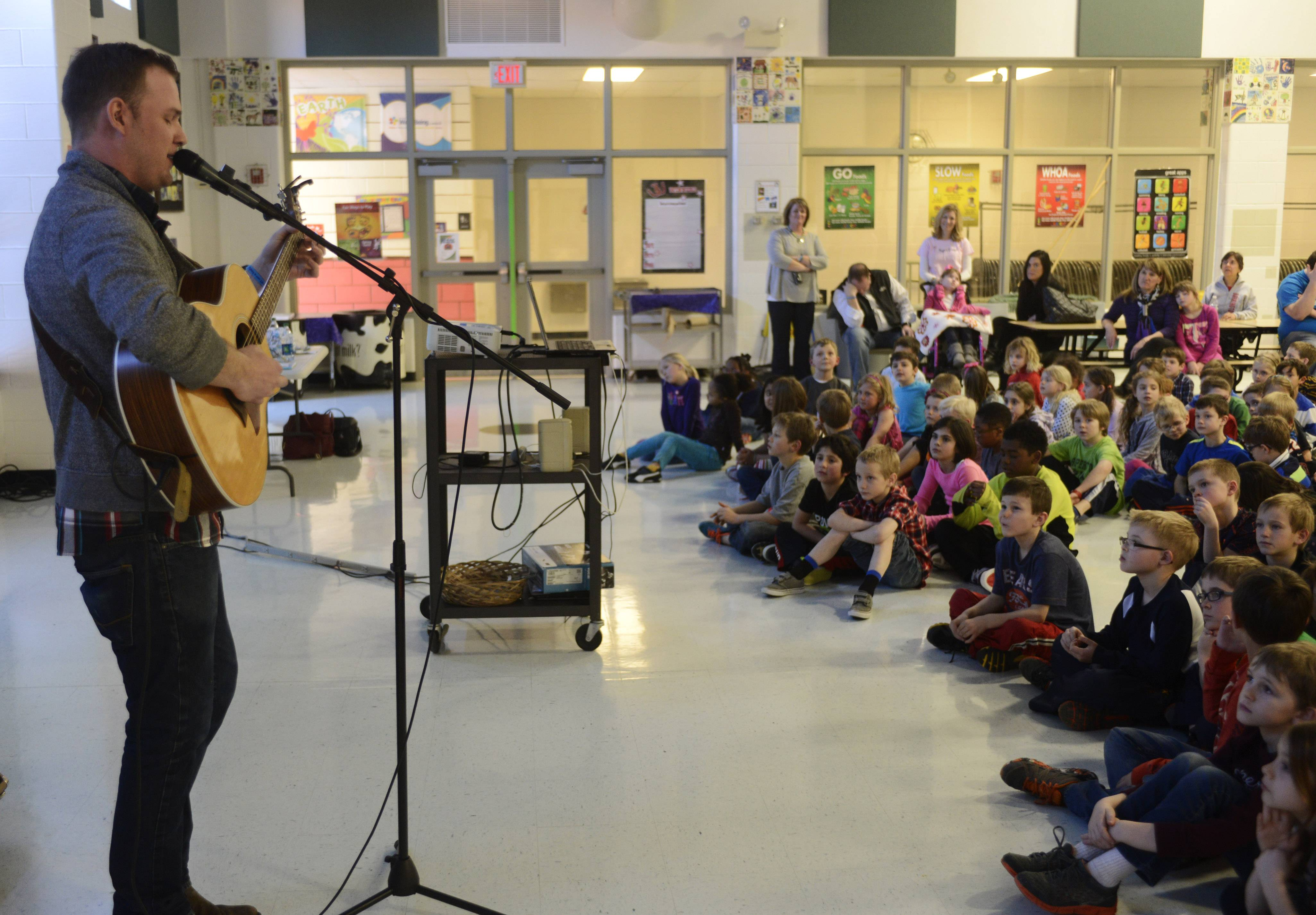 Karl Vincent Roth joined the fight against Batten disease by entertaining and enlightening students at North Barrington School.