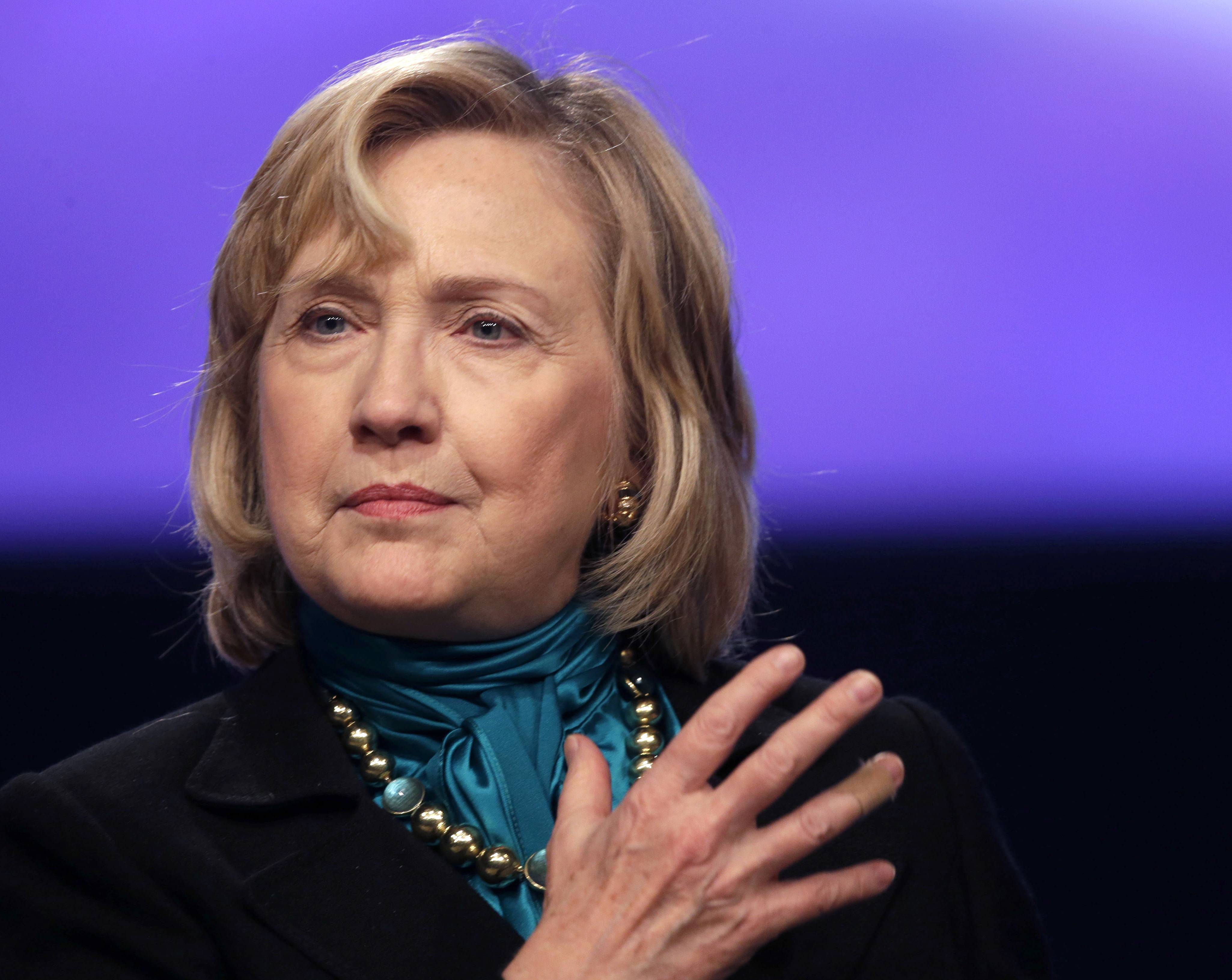 Ex-Secretary of State Hillary Rodham Clinton speaks in New Orleans.