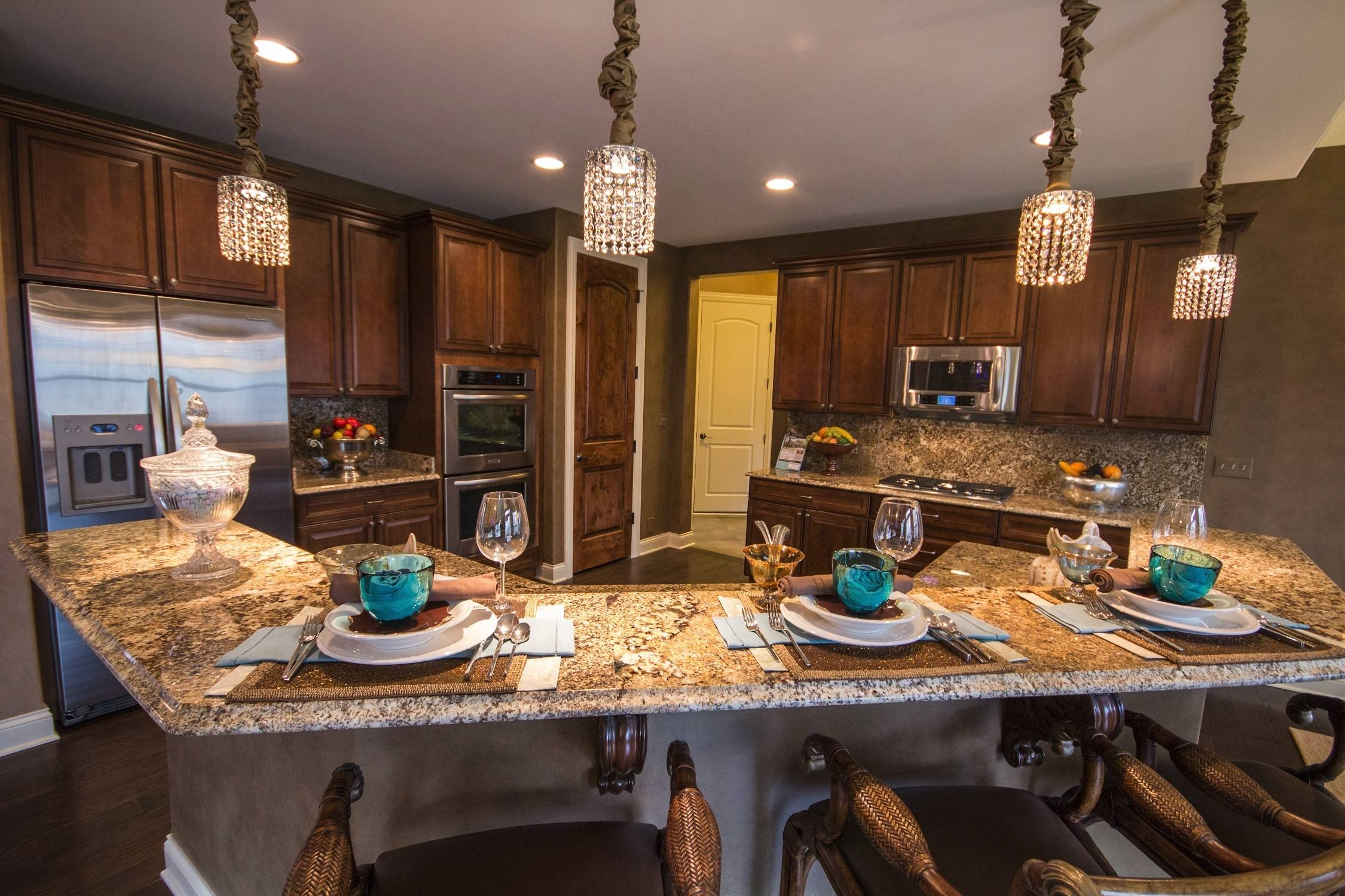 KLM Builders features a palette of warm earth tones in its Sonoma model, a popular ranch plan at Thousand Oaks in Spring Grove.