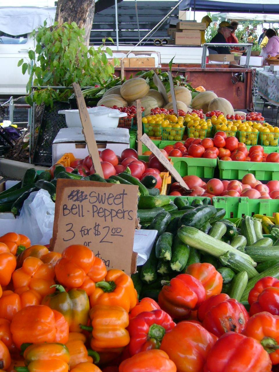 A variety of vegetables are on sale at a farmers market in Pasadena, Calif. With summery temps almost the entire year, Pasadena is home to three certified weekly farmers markets.