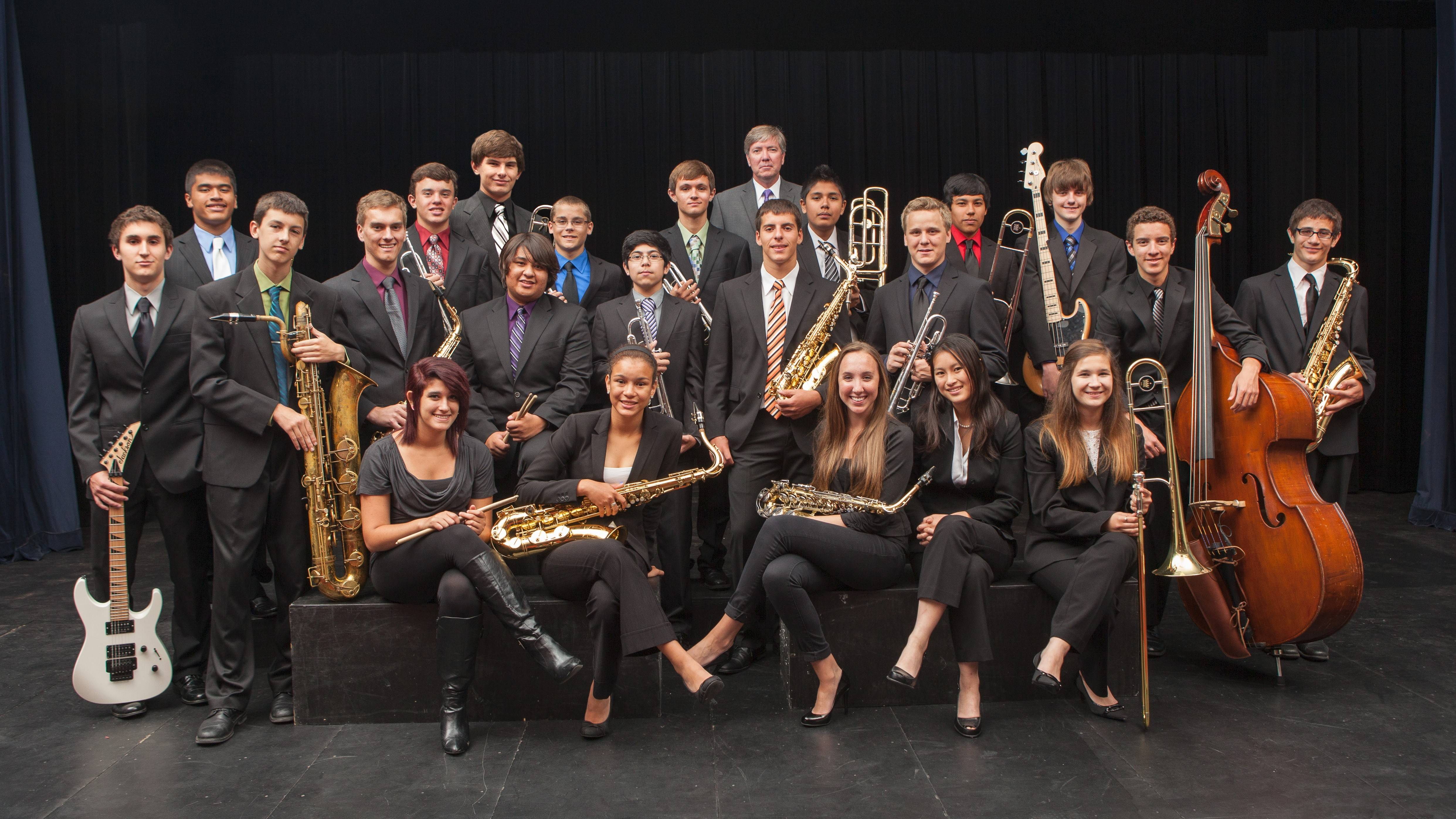 Wheeling High School Jazz Band 1 is named Jazz in the Meadows Grand Champion.