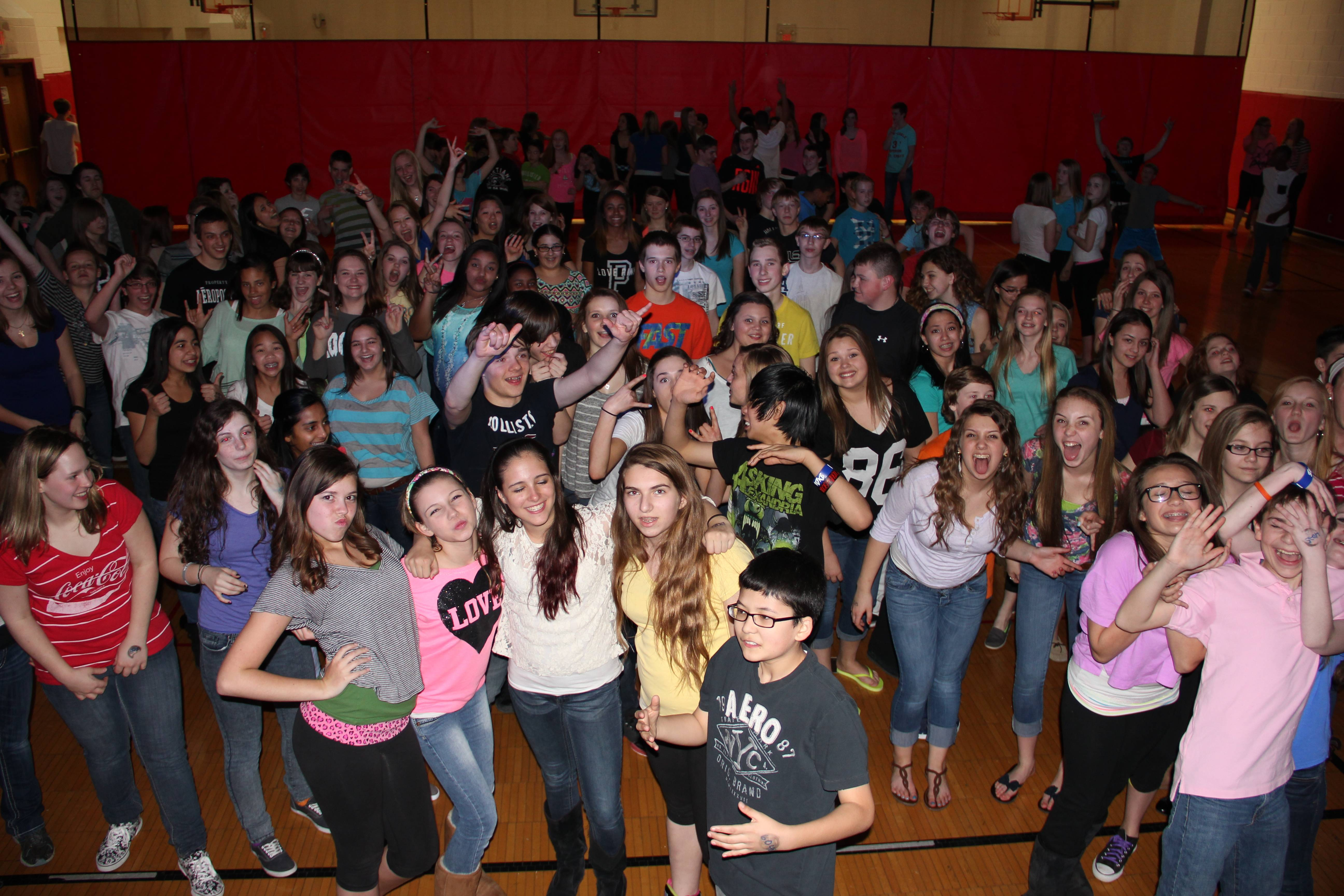 Seventh- and eighth-graders from School District 54 and area parochial schools dance the night away at TPH.Schaumburg Park District