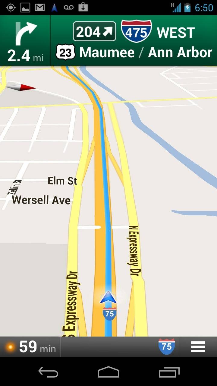 In this undated screenshot, the Google Maps application is demonstrated on an Android.