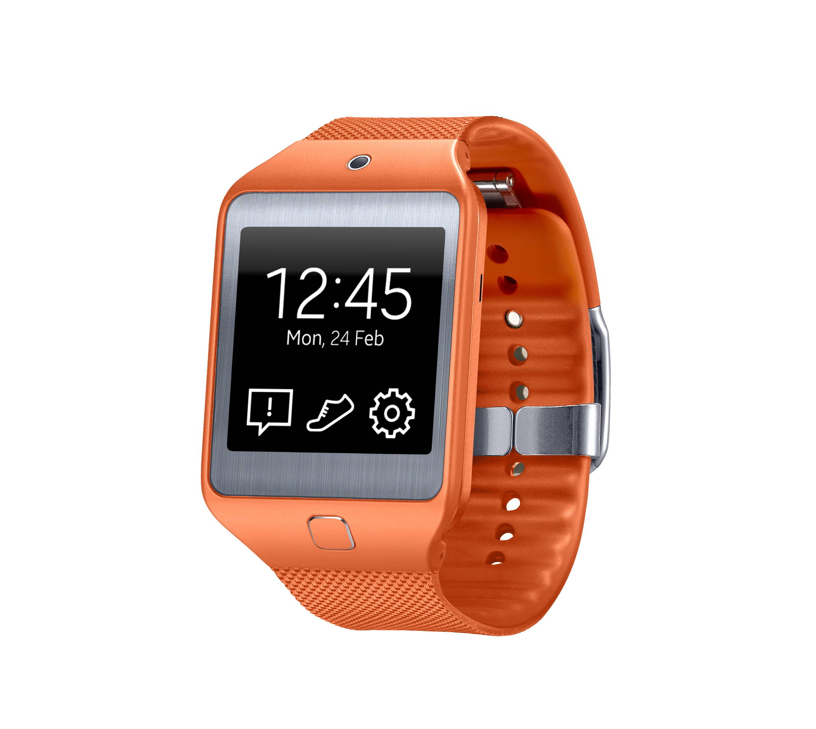 Samsung's Gear 2 Neo, one of two new computerized wristwatches, includes health sensors and related fitness features to give people a reason to buy one, unveiled at the Mobile World Congress in Spain.