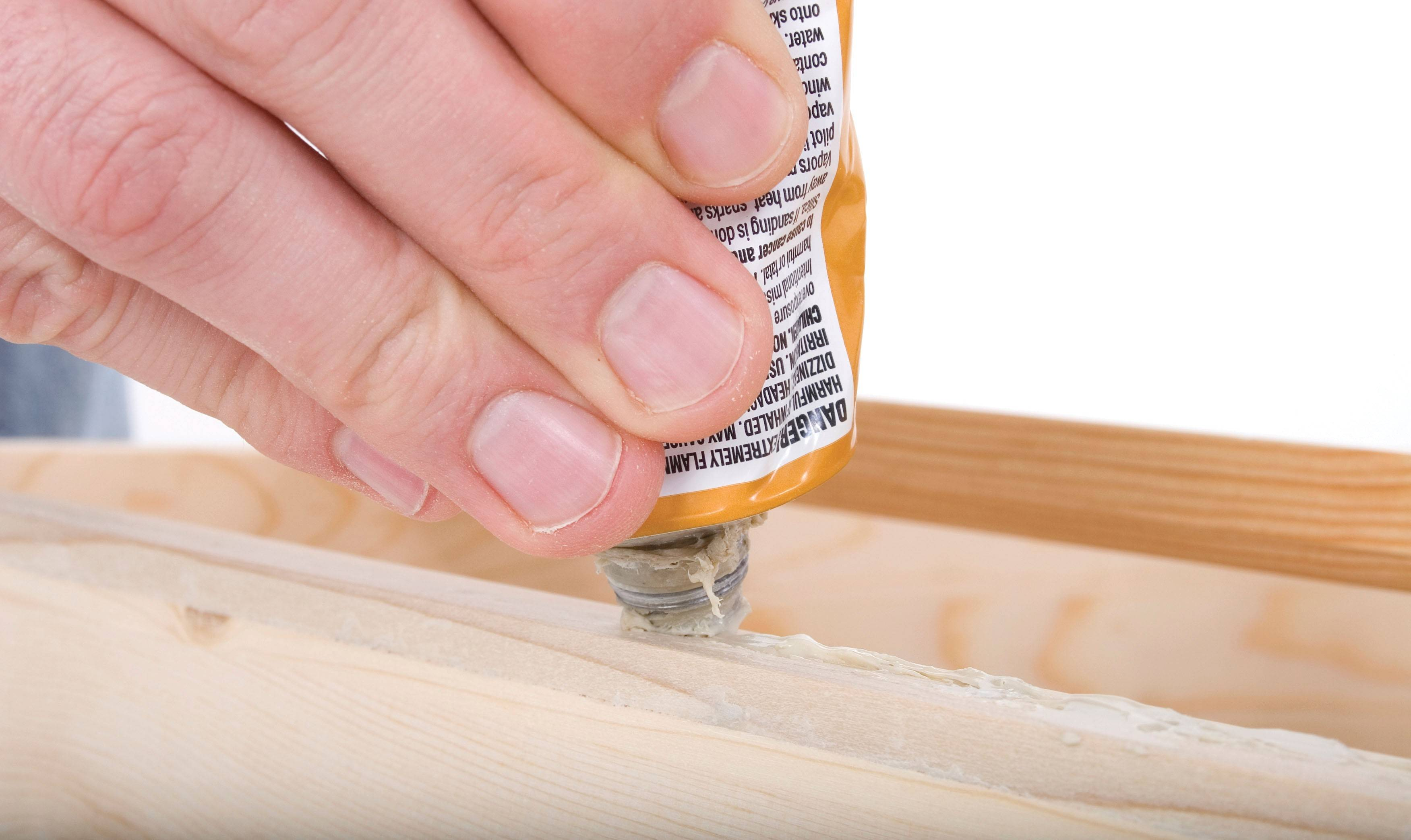Use the right adhesive for your job, be it rubber cement, wood glue or a super glue.