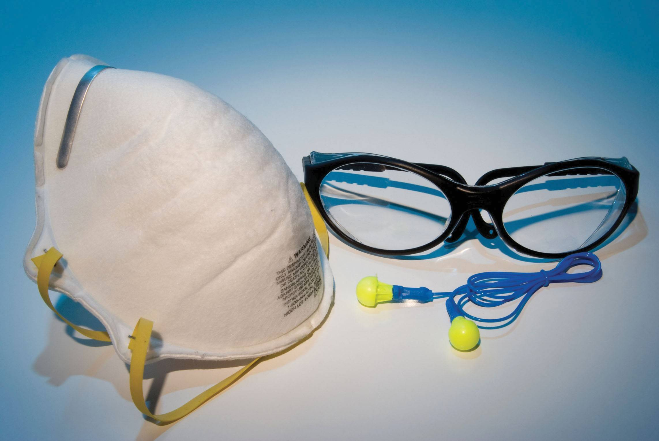 You'll want to protect your eyes and ears when working with most tools, and masks help when you are working with paint or other harsh chemicals.