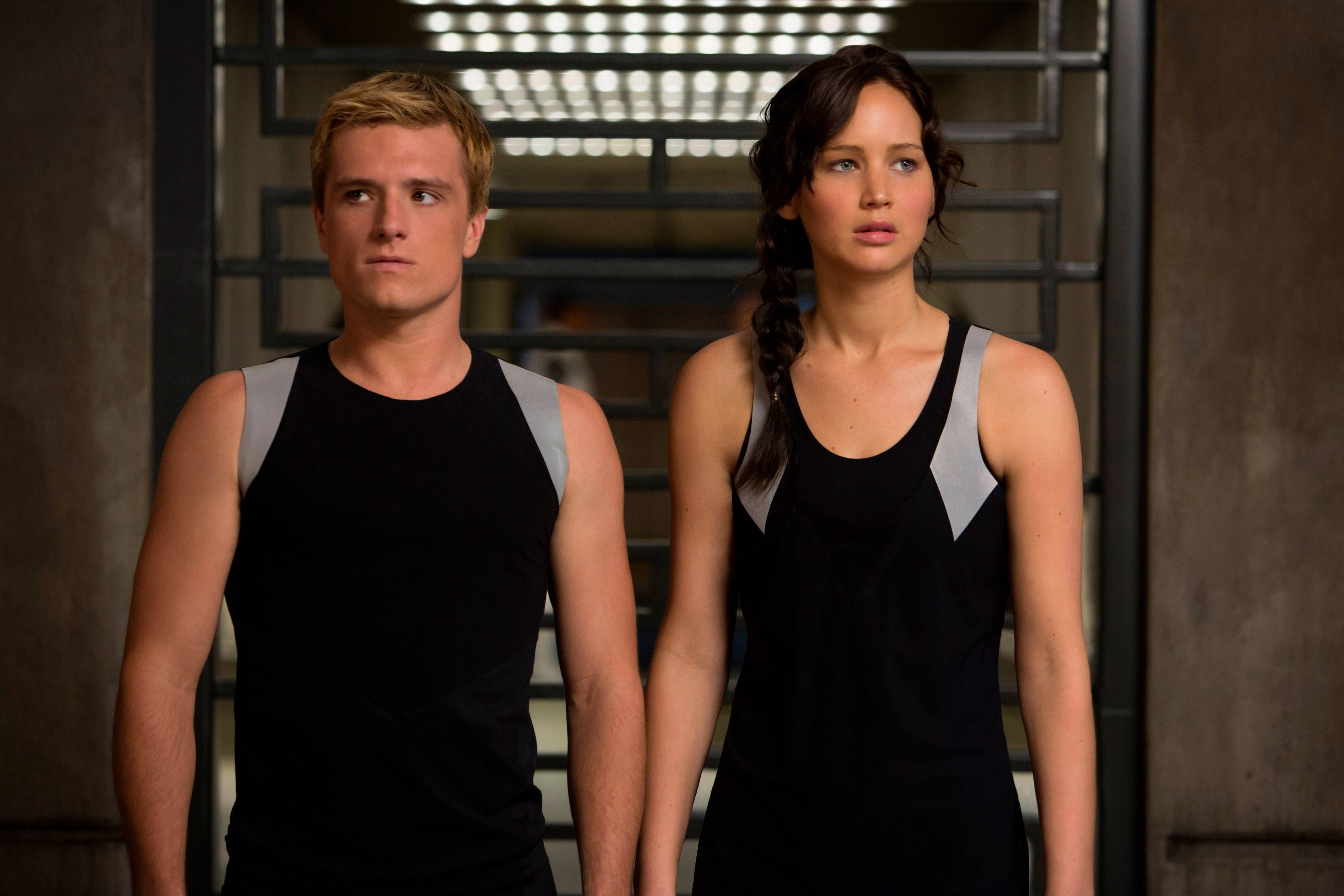"Peeta (Josh Hutcherson) and Katniss (Jennifer Lawrence) must return to the arena in ""The Hunger Games: Catching Fire,"" coming to DVD March 7."