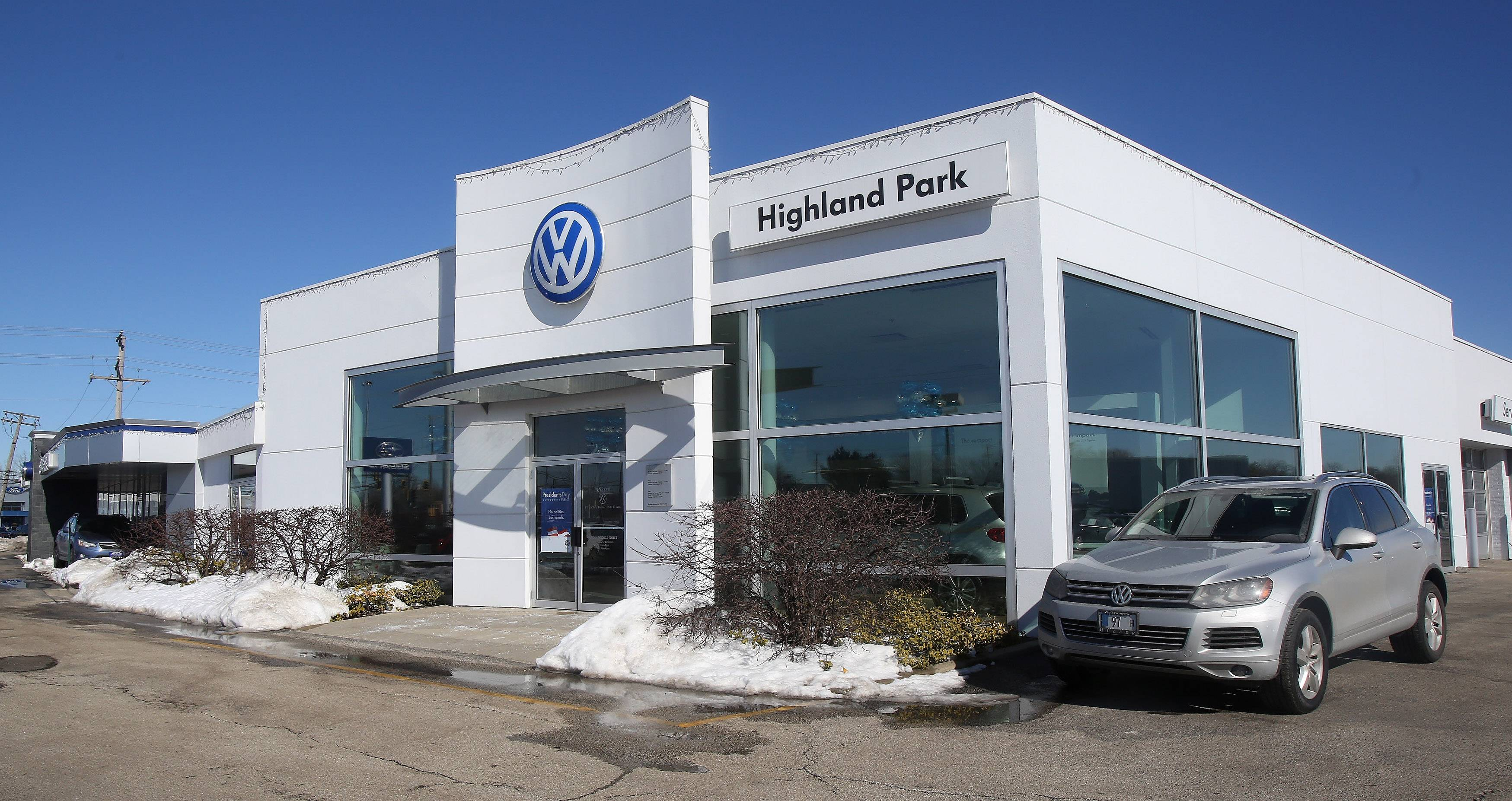 The Volkswagen division of the Muller Auto Group in Highland Park.
