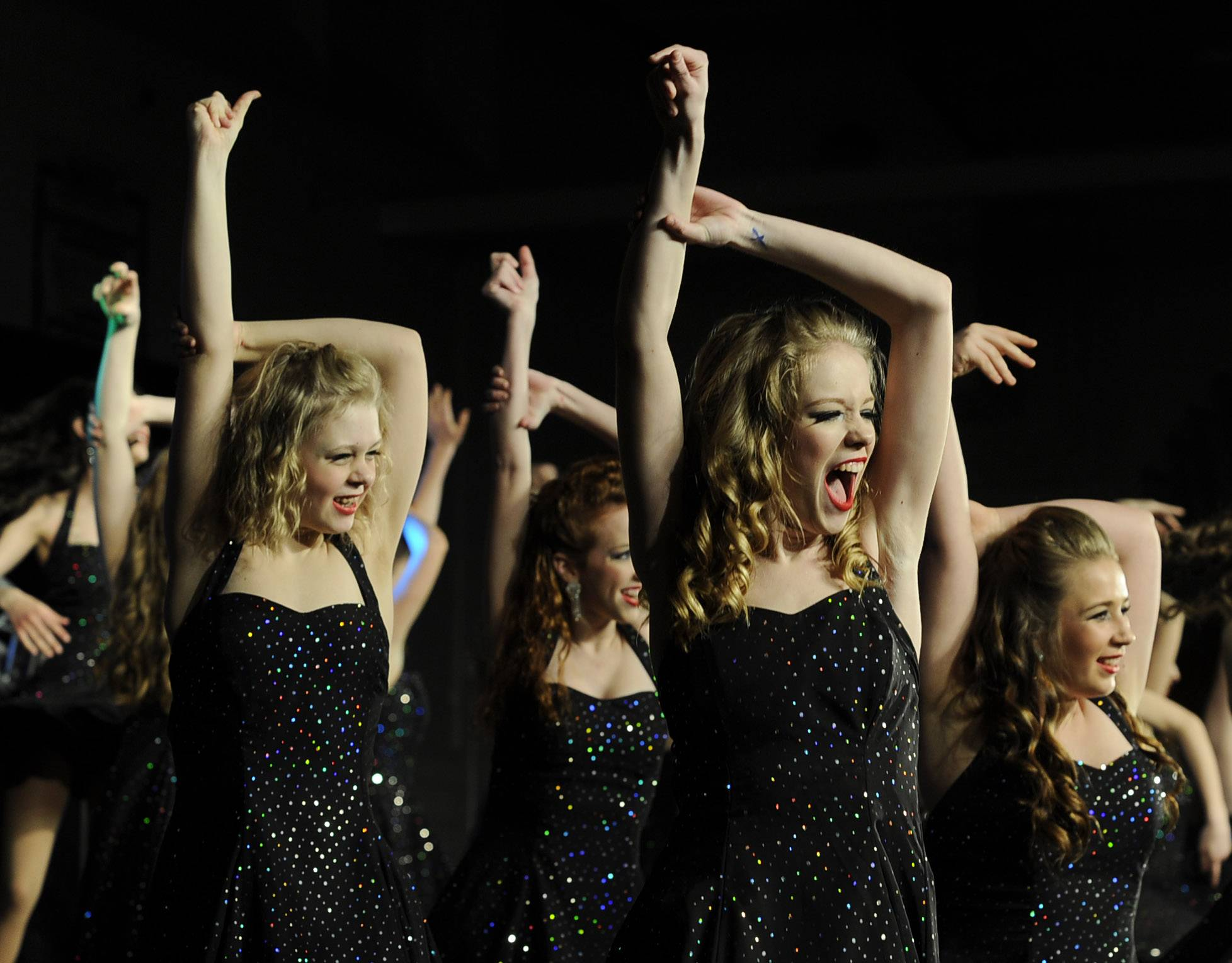 Prospect High School choir members the Company at the Chicagoland Showcase 2014 at Hersey High School on Saturday.