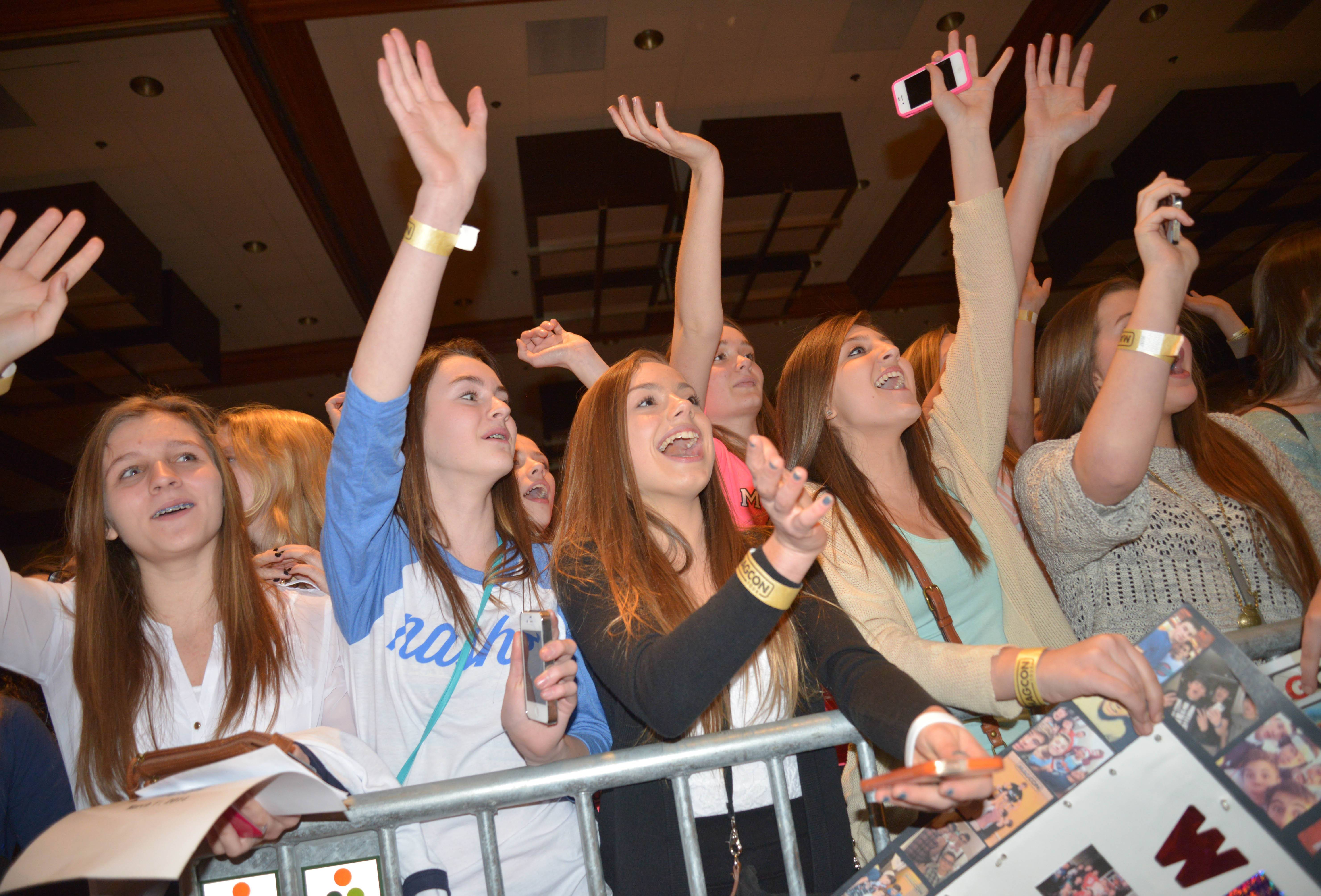 The teenage boys who have become social media stars with their 6-second videos on Vine were at the Westin Chicago in Itasca to meet their fans.