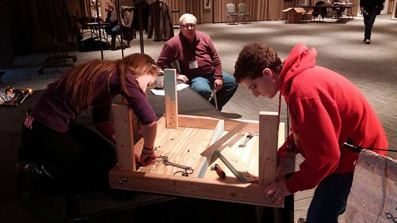 Fremd High School students compete in Tech Olympics at the Illinois Theatre Fest.