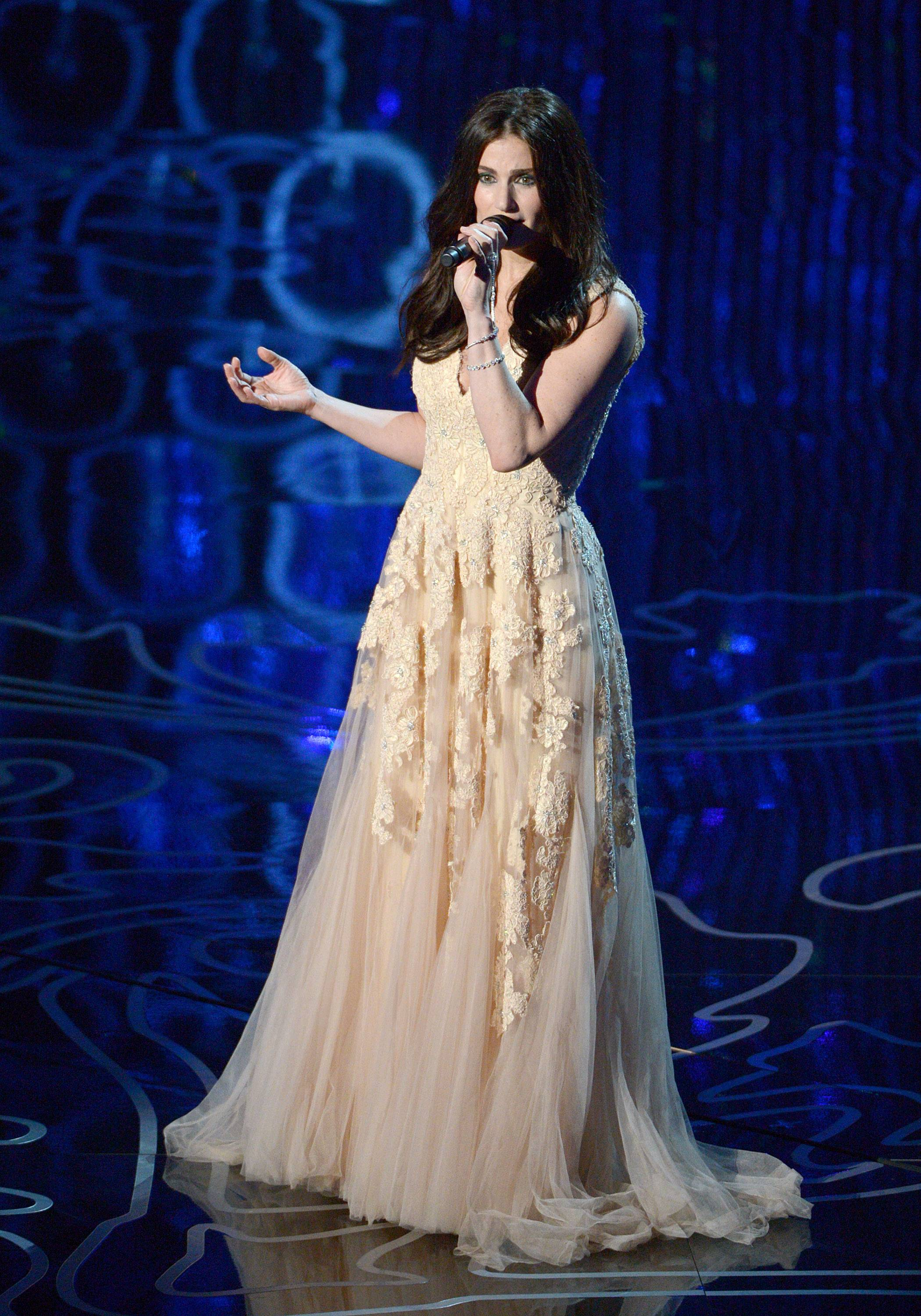 "Idina Menzel performs ""Let it Go"" from ""Frozen."""