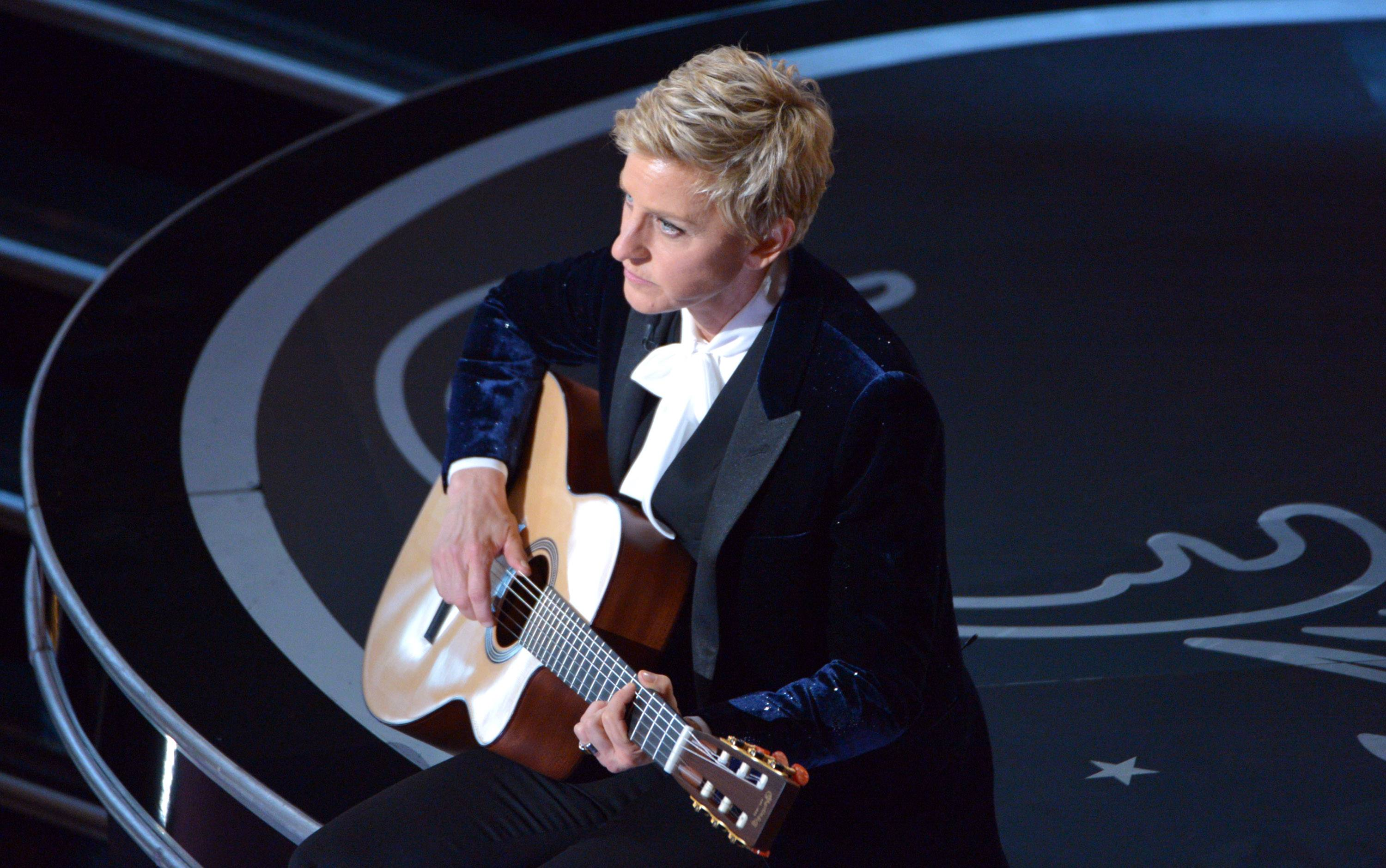 Ellen DeGeneres performs during the Oscars.