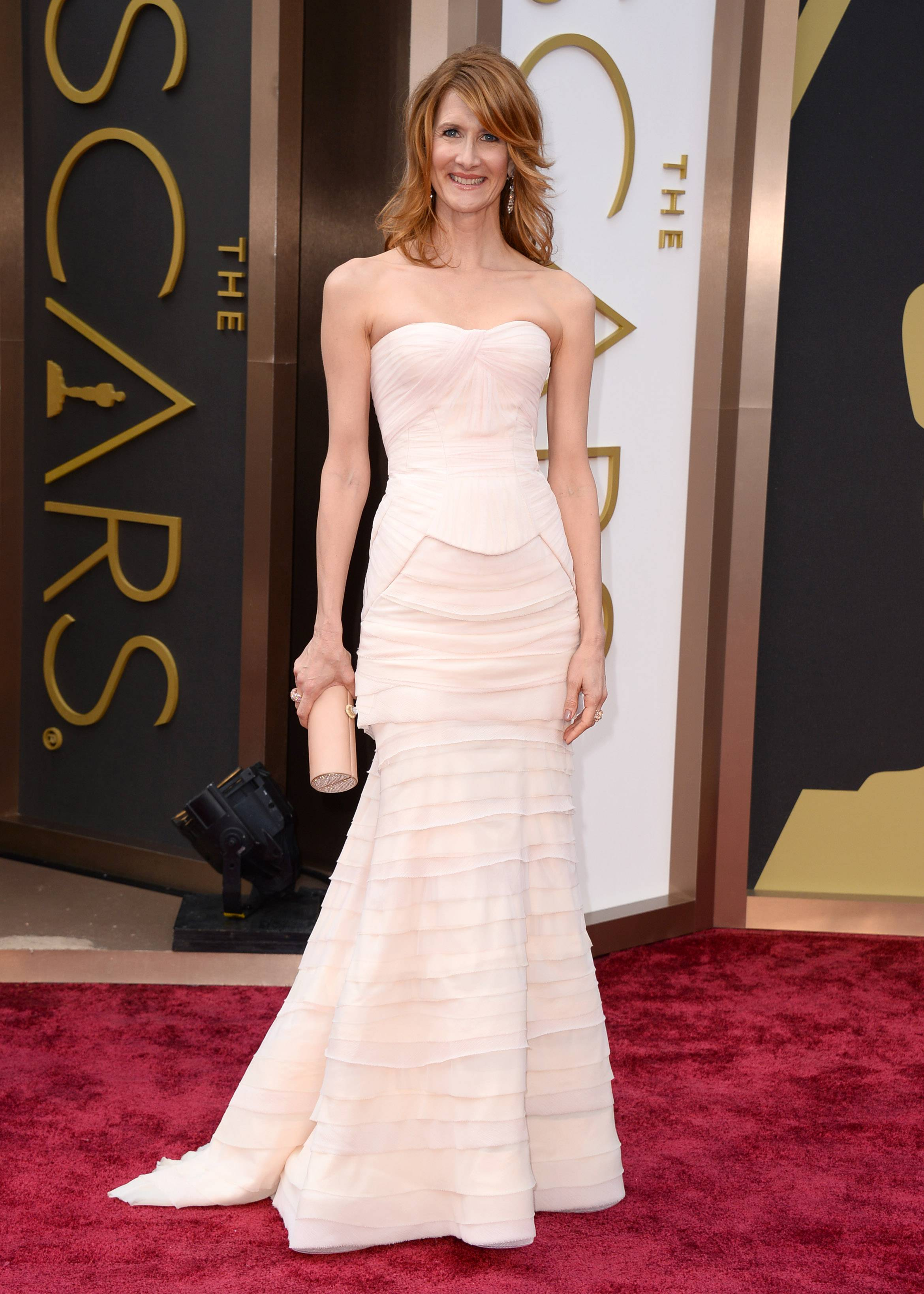 Actress Laura Dern arrives at the Oscars on Sunday in Los Angeles.
