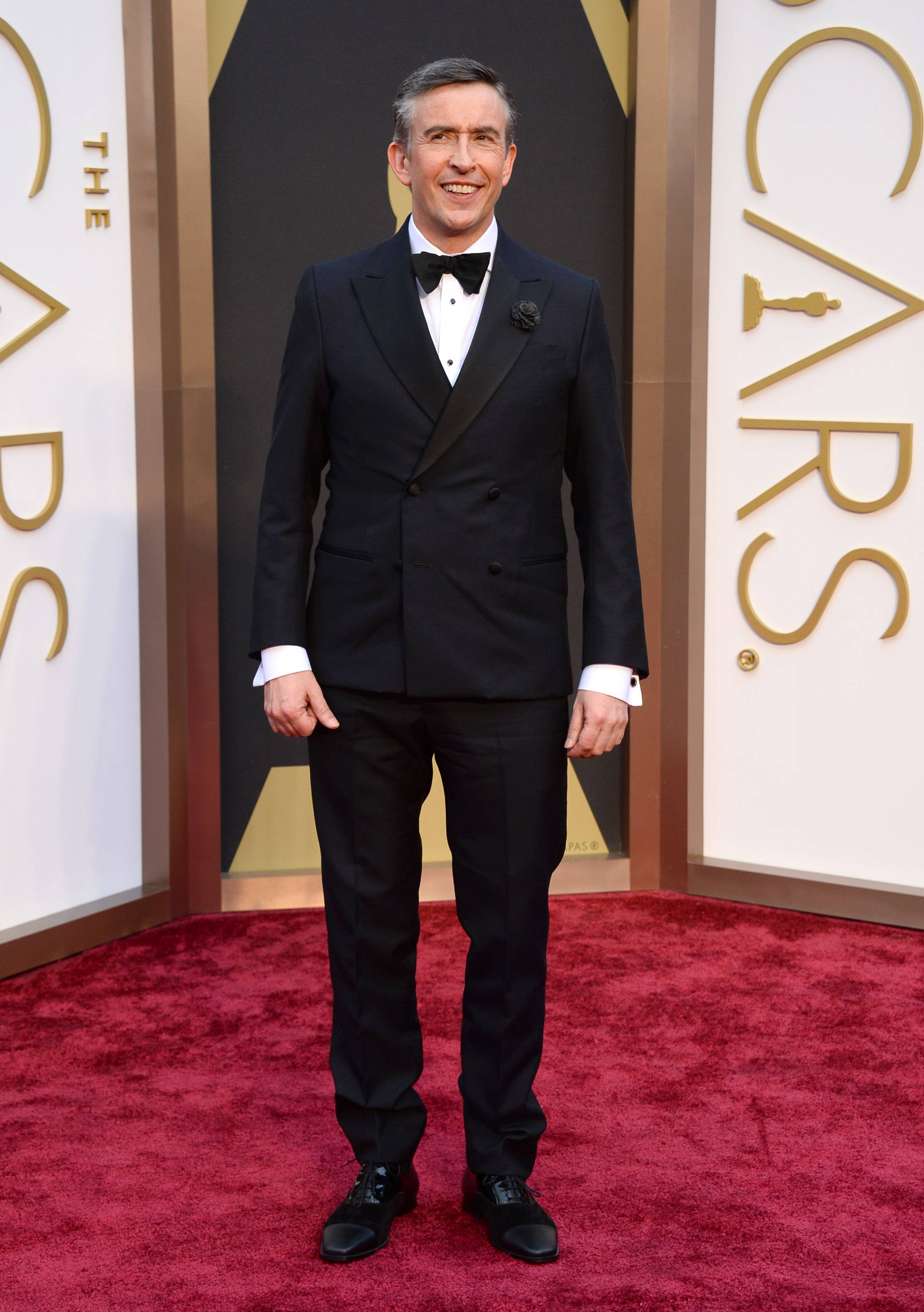 """Philomena"" star and screenwriter Steve Coogan arrives at the Oscars on Sunday in Los Angeles."