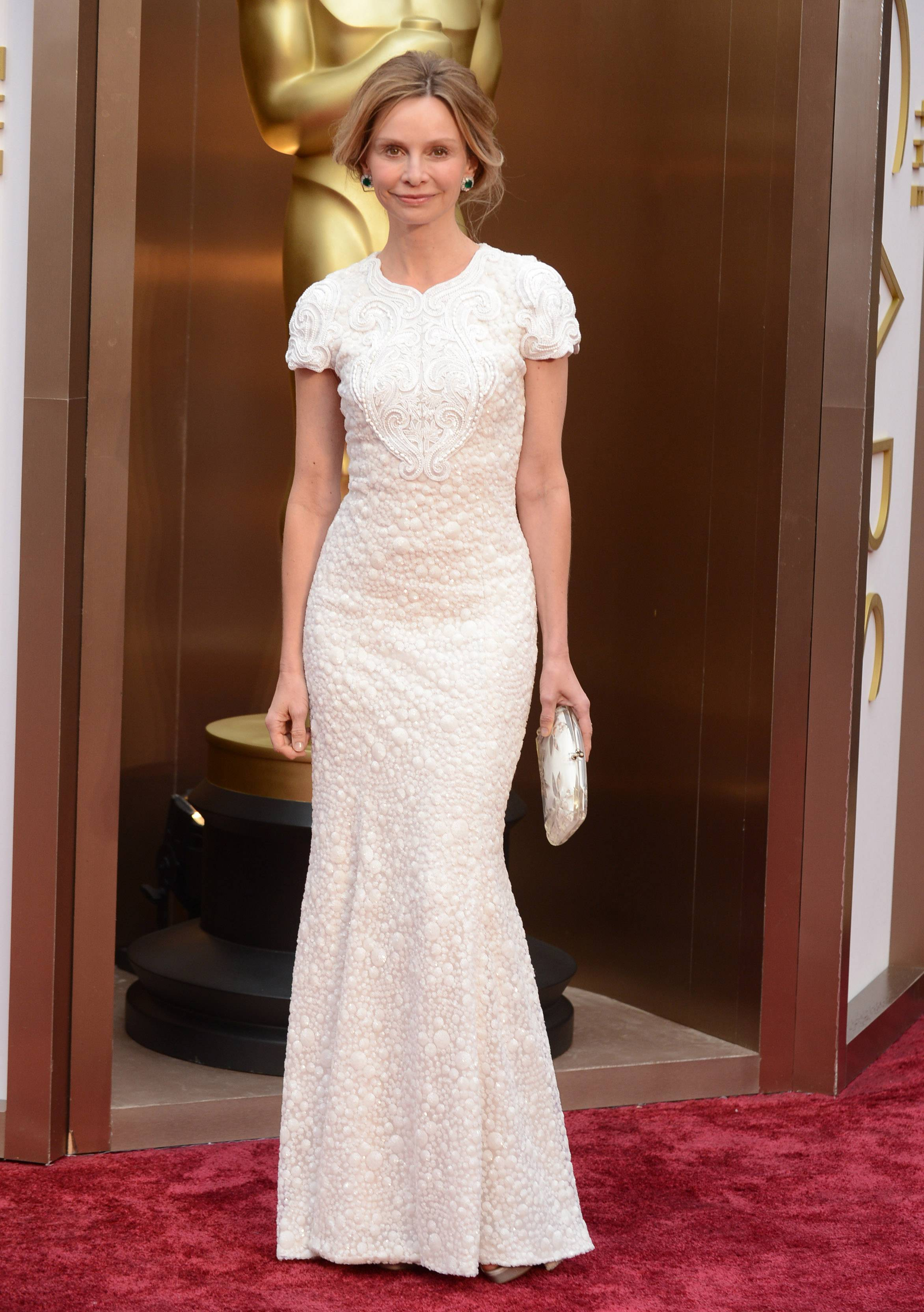 Calista Flockhart arrives at the Oscars on Sunday in Los Angeles.