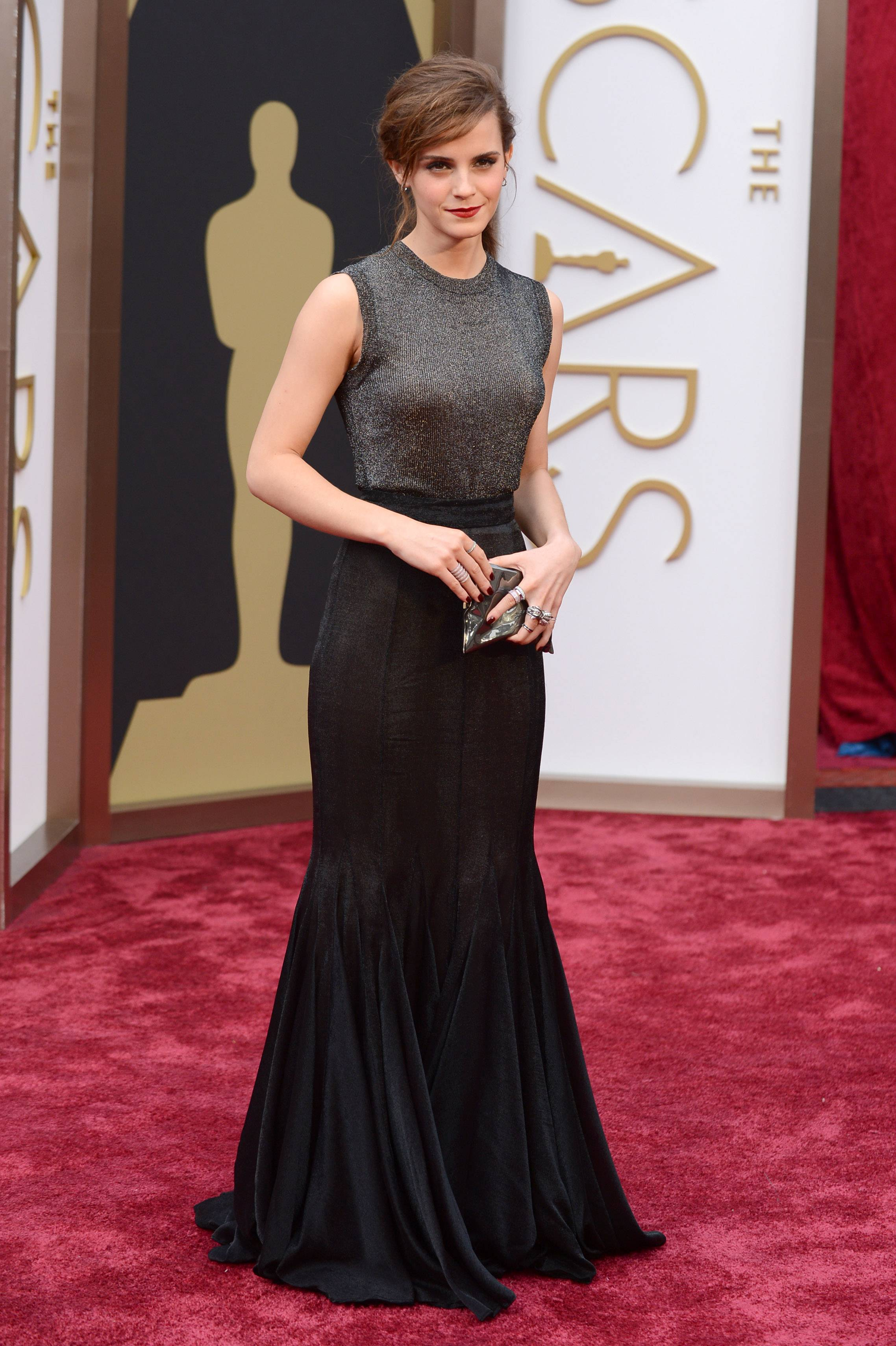 """The Bling Ring"" star Emma Watson arrives at the Oscars on Sunday."