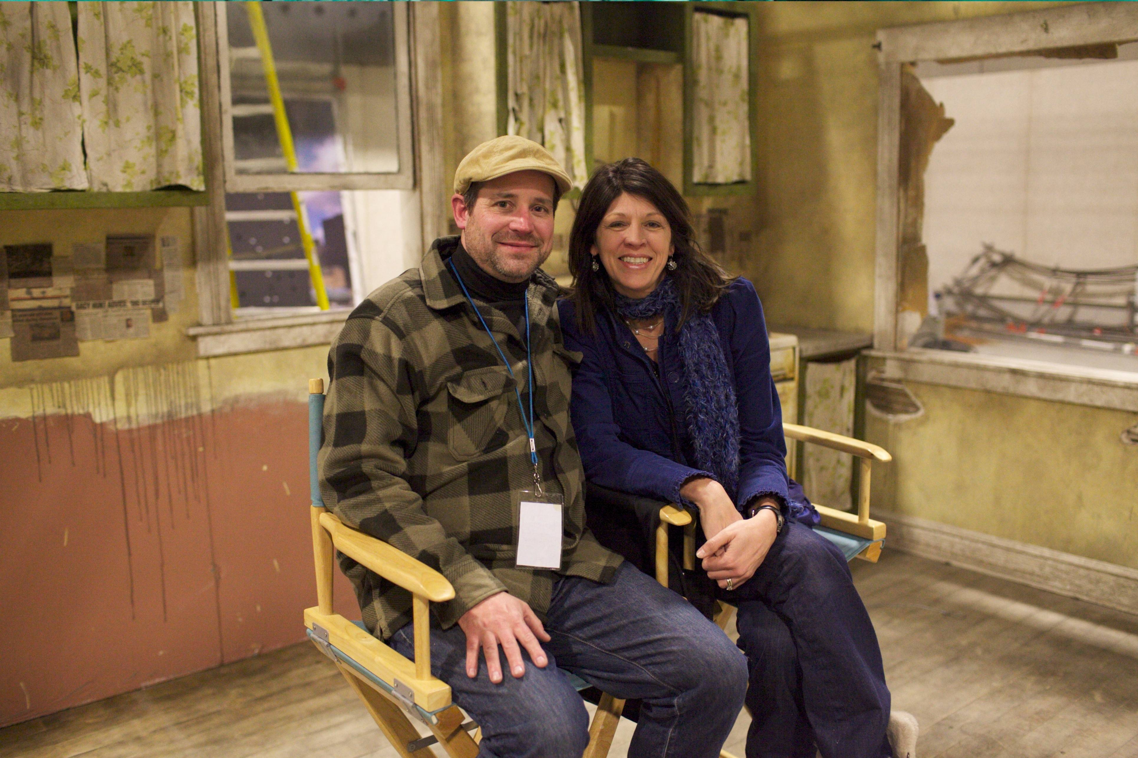 "Kevin and DeAnna Cooper, husband-and-wife filmmakers from Wheaton, on the set of ""The Painter,"" their latest film about the violence in Chicago as seen through a child's eyes."