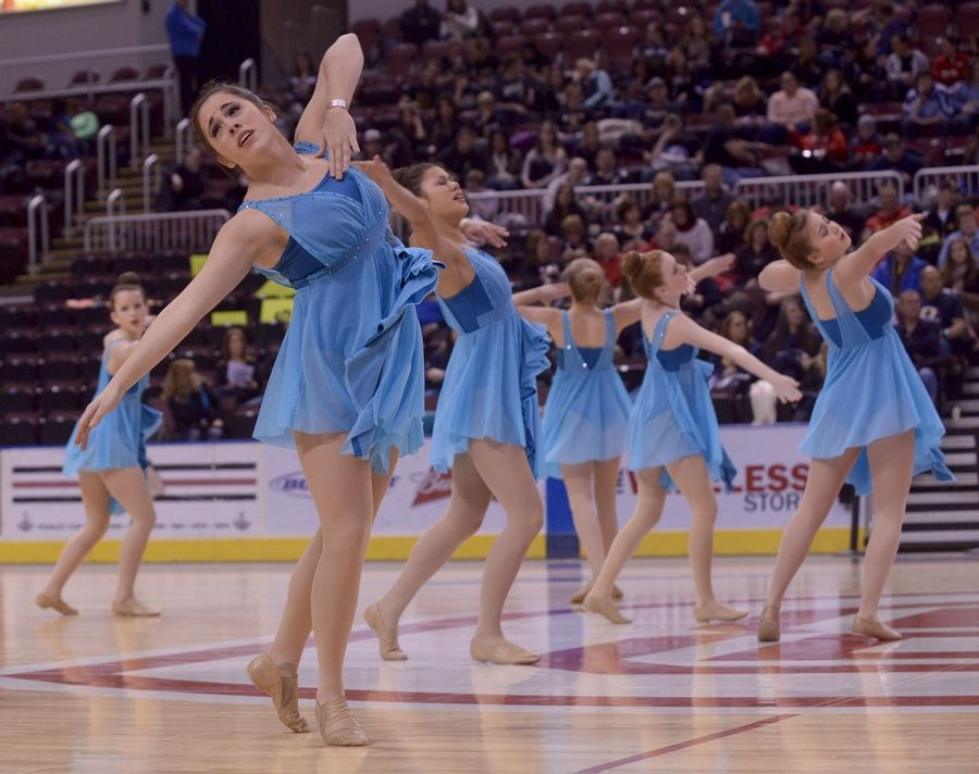 St. Francis High School performs in the 2A Lyrical category during the Team Dance Illinois 2014 Grand Championship in Peoria Sunday.