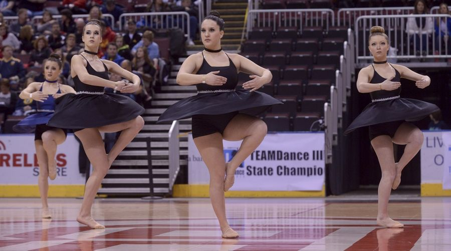 Larkin High School performs in the 2A Lyrical category during the Team Dance Illinois 2014 Grand Championship in Peoria Sunday.