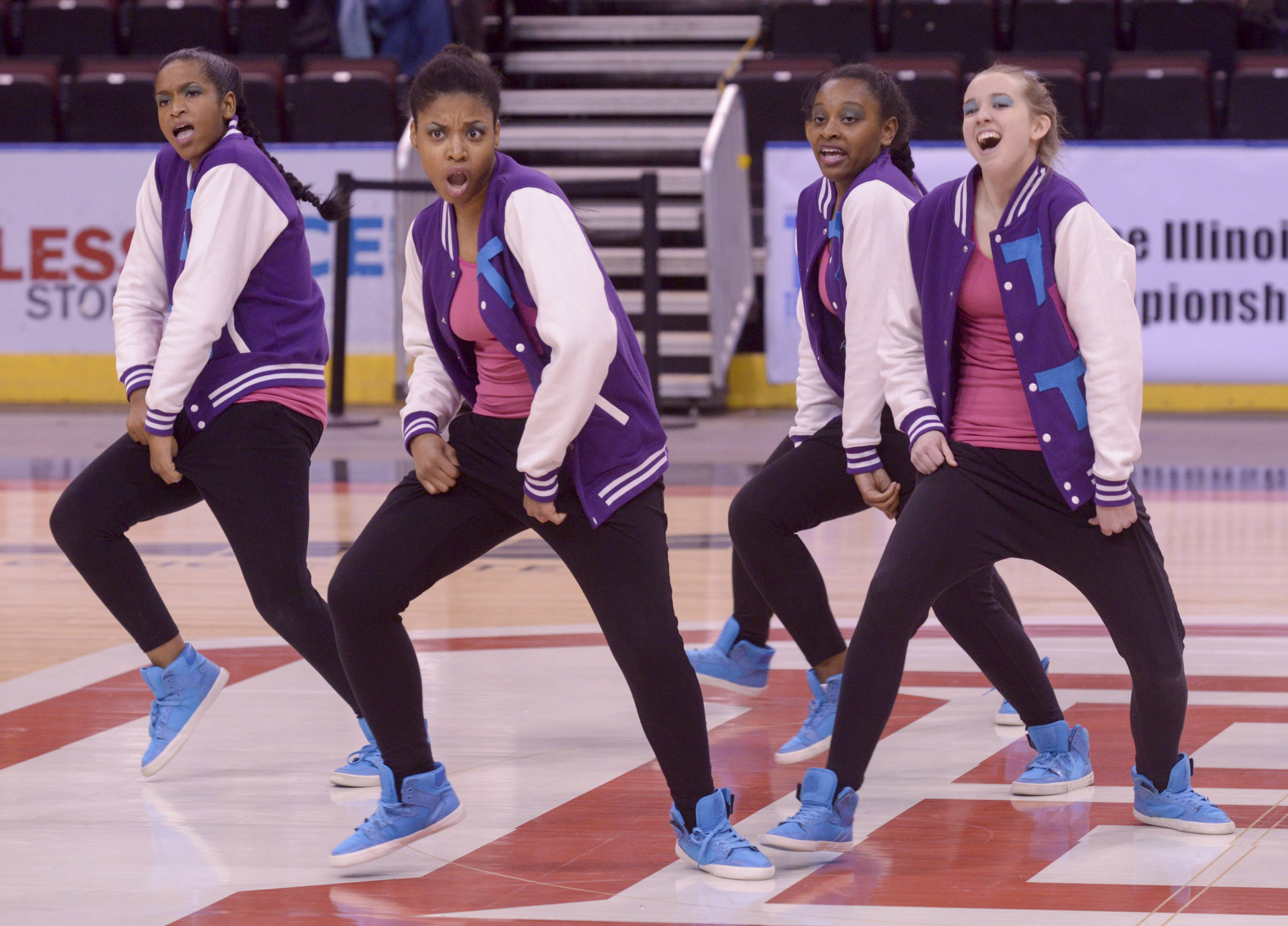 Illinois Math and Science Academy performs in the 2A Hip Hop category during the Team Dance Illinois 2014 Grand Championship in Peoria Sunday.
