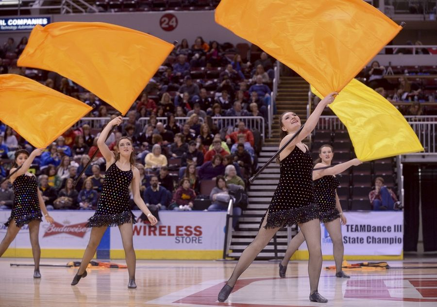 Barrington High School performs in the Varsity Flag Lyrical Flag category during the Team Dance Illinois 2014 Grand Championship in Peoria Sunday.