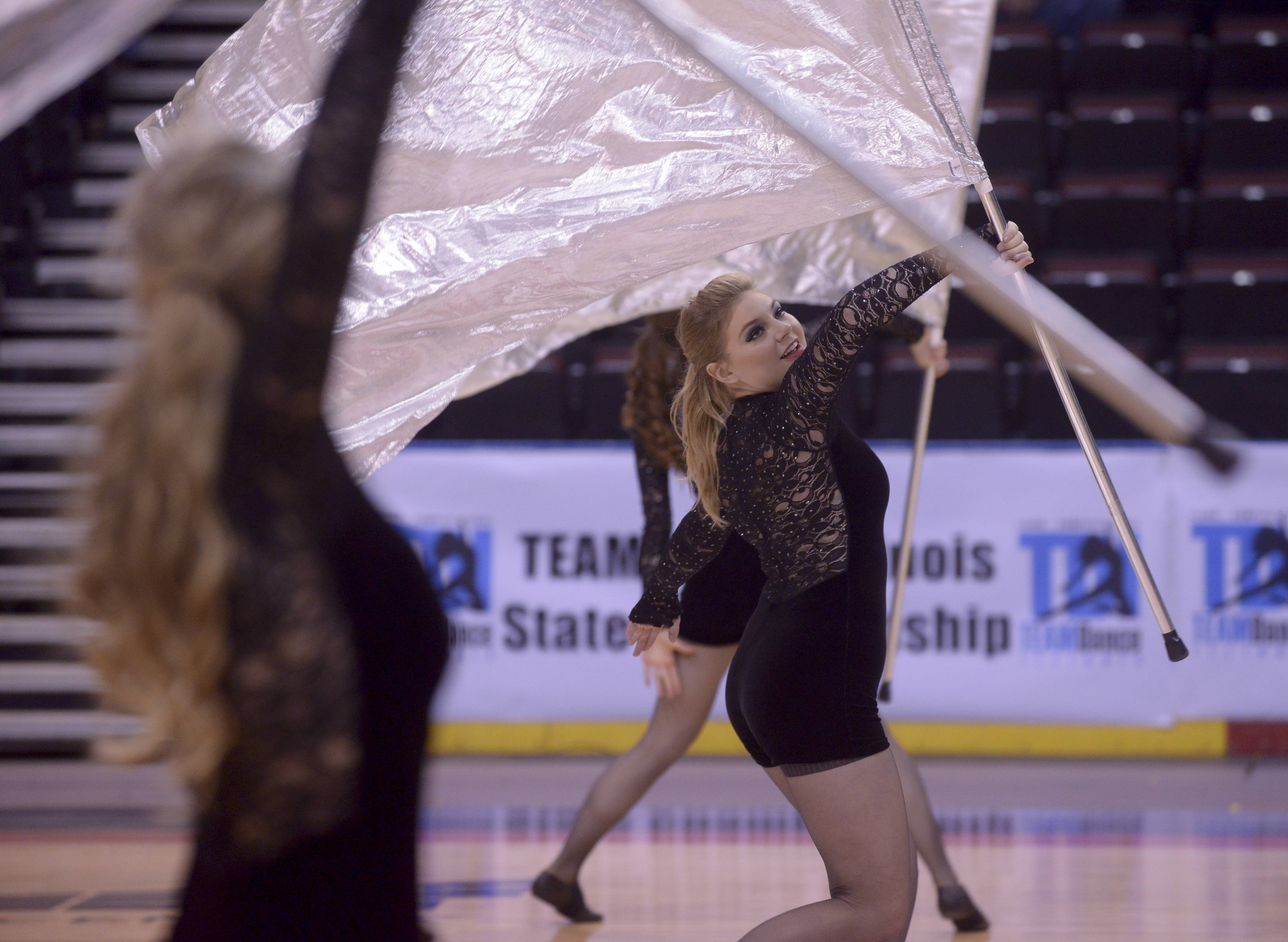 Lake Zurich High School performs in the Varsity Flag Open Flag category during the TEAMDance Illinois 2014 Grand Championship in Peoria, Sunday March 2nd.