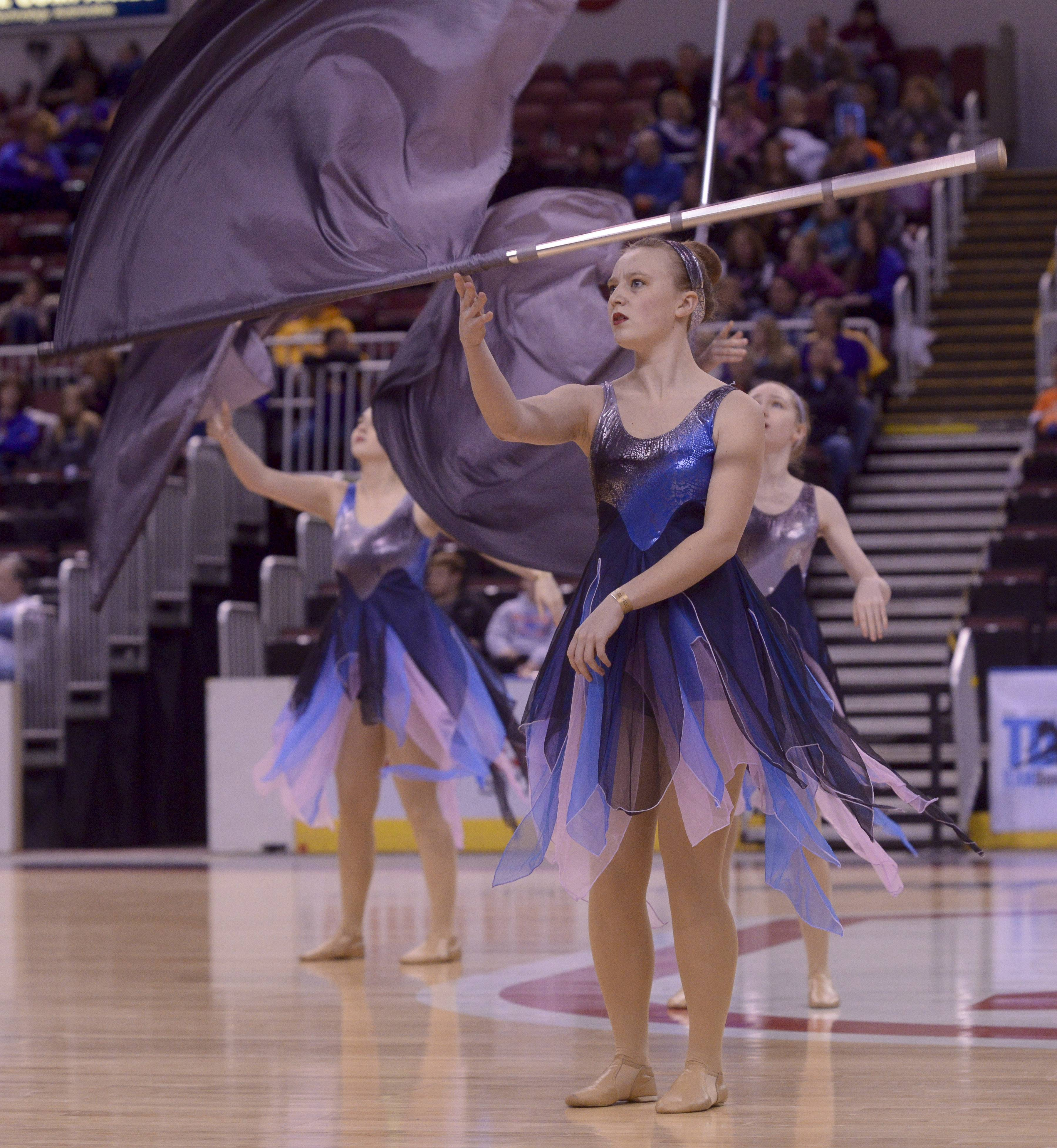 Grayslake North High School performs in the Varsity Flag Open Flag category during the TEAMDance Illinois 2014 Grand Championship in Peoria, Sunday March 2nd.