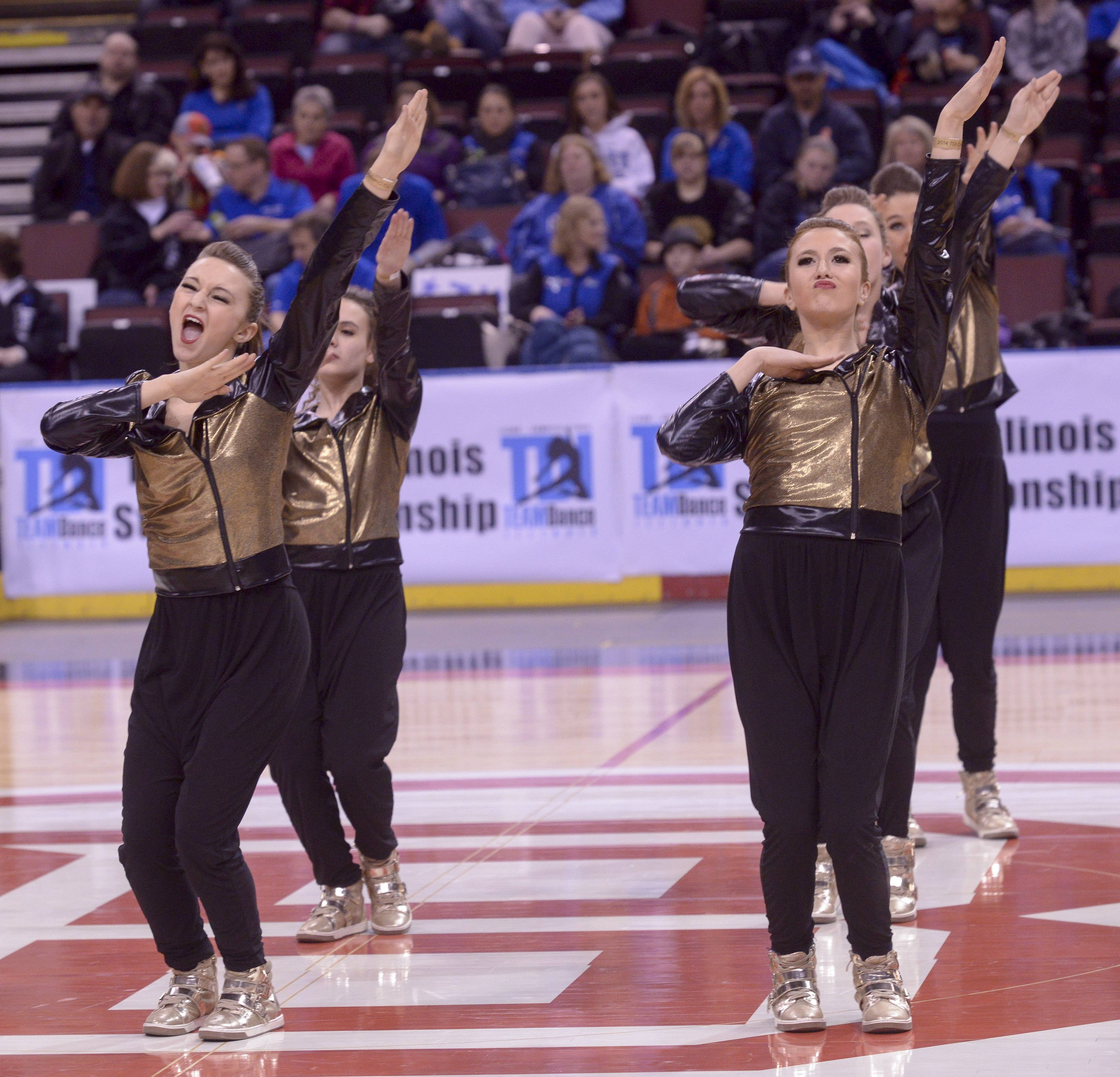 Batavia High School performs in the 2A Hip Hop category during the TEAMDance Illinois 2014 Grand Championship in Peoria, Sunday March 2nd.