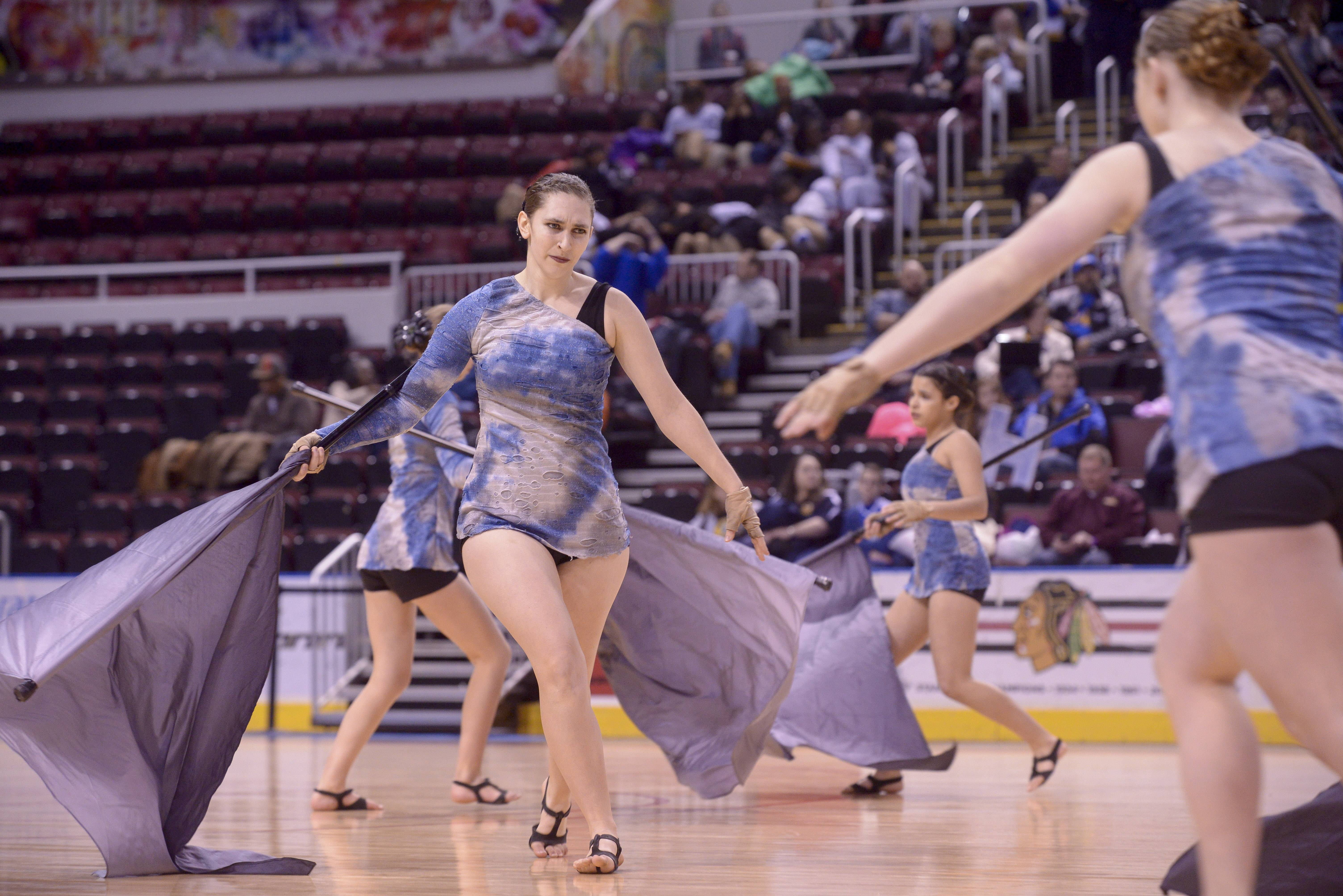 Lakes High School performs in the Varsity Flag Lyrical Flag category during the TEAMDance Illinois 2014 Grand Championship in Peoria, Sunday March 2nd.