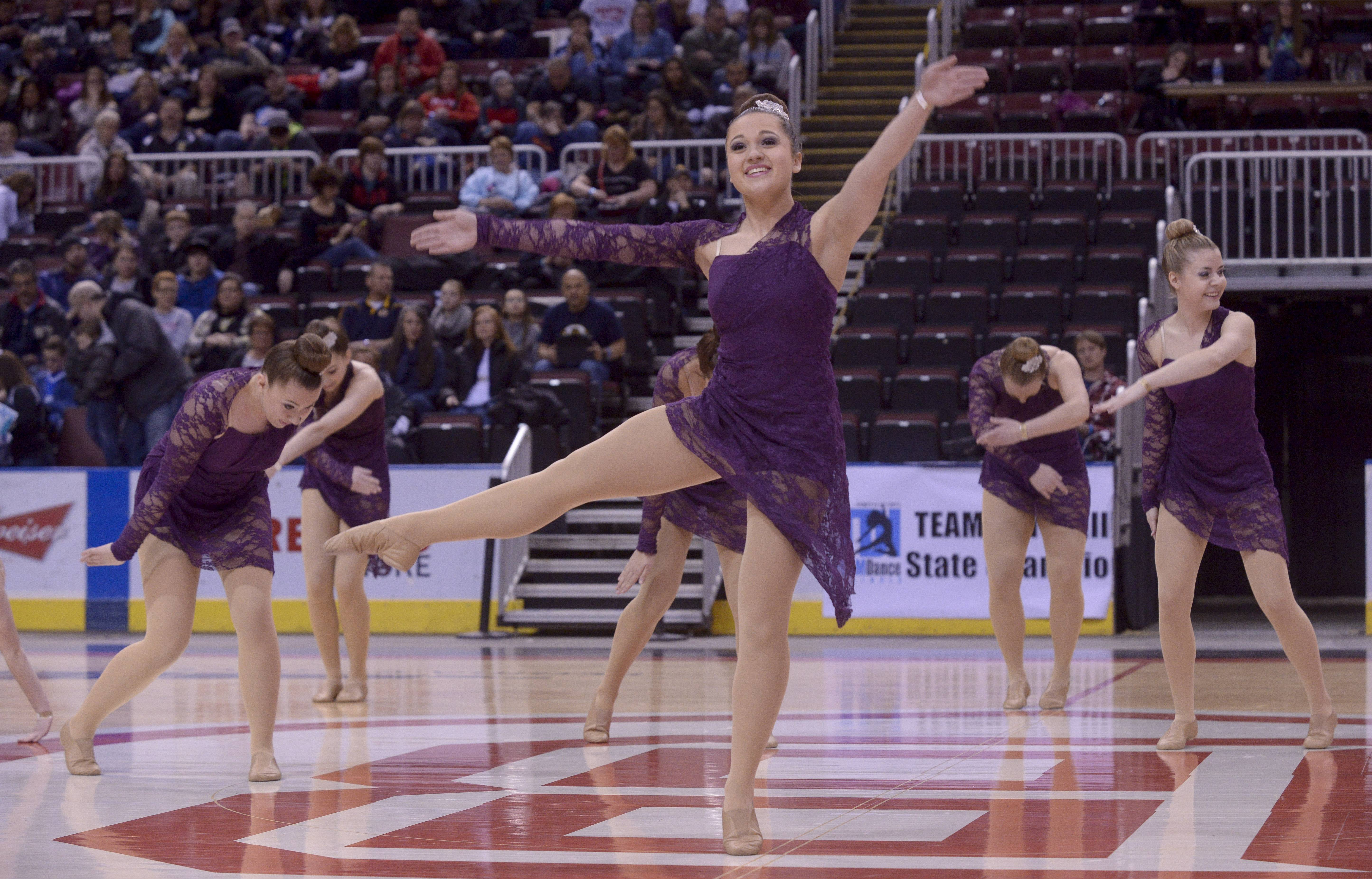 Bartlett High School performs in the 3A Open Dance category during the TEAMDance Illinois 2014 Grand Championship in Peoria, Sunday March 2nd.