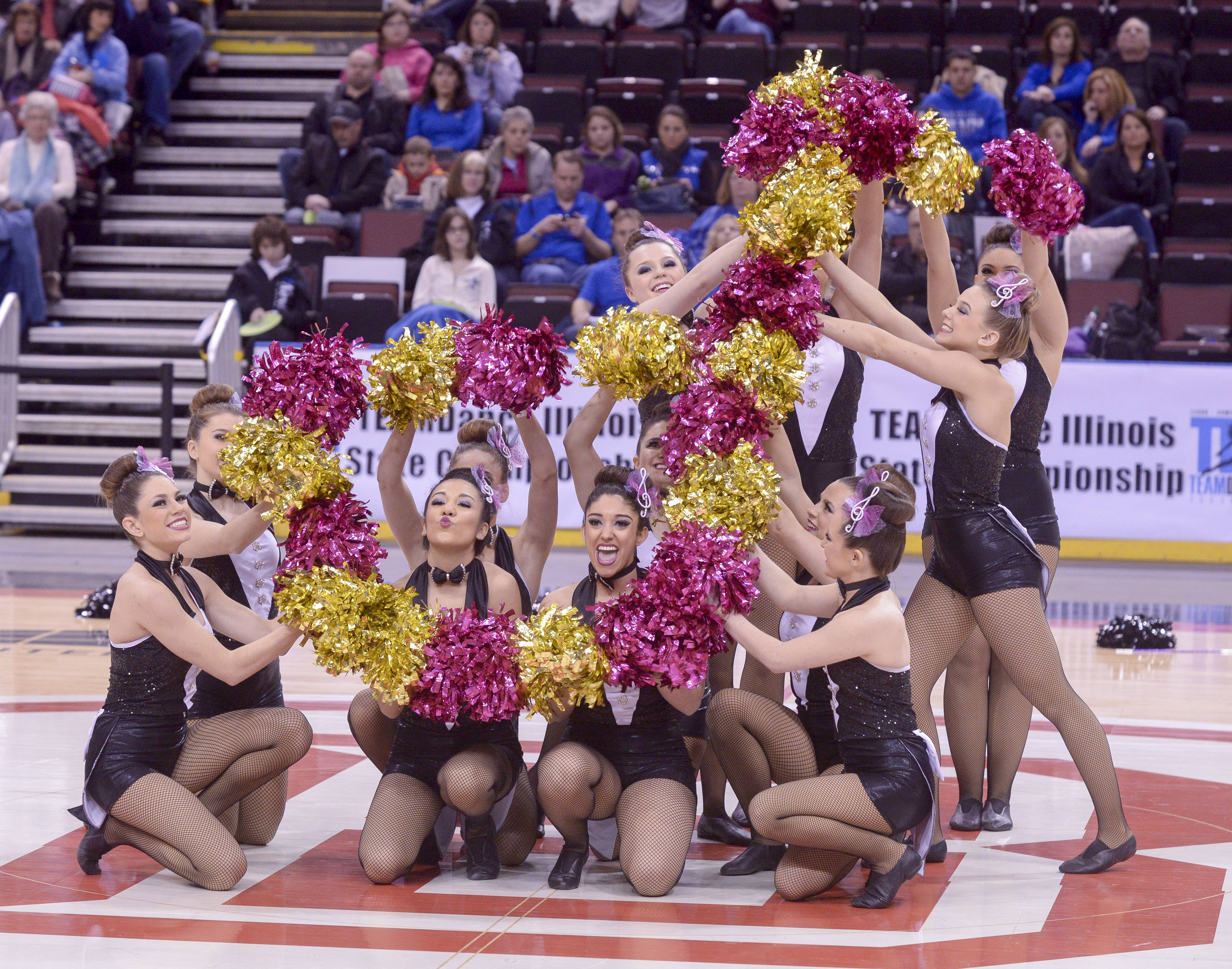Montini Catholic High School performs in the 2A Pom category during the TEAMDance Illinois 2014 Grand Championship in Peoria, Sunday March 2nd.
