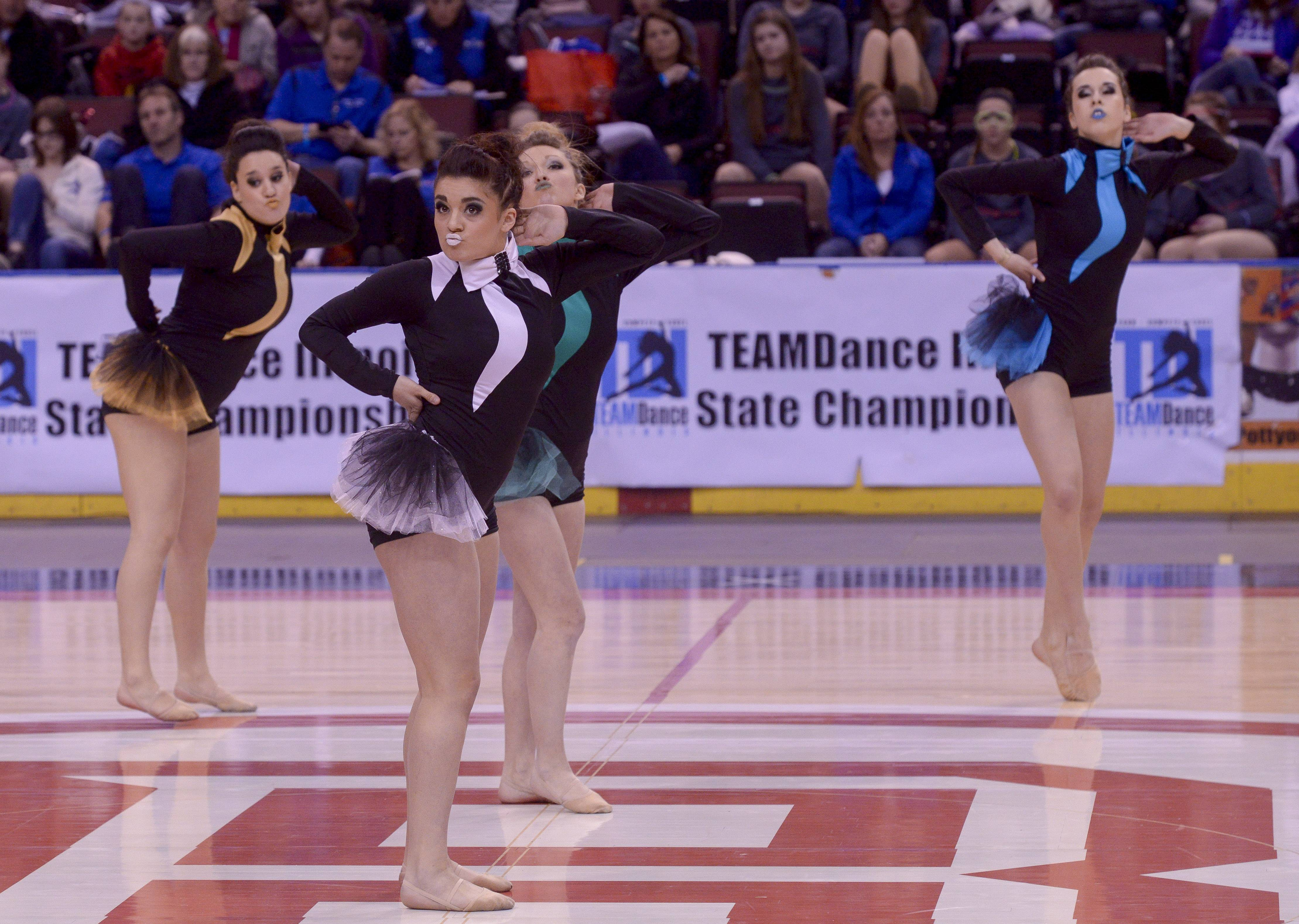 Larkin High School performs in the 2A Open Dance category during the TEAMDance Illinois 2014 Grand Championship in Peoria, Sunday March 2nd.