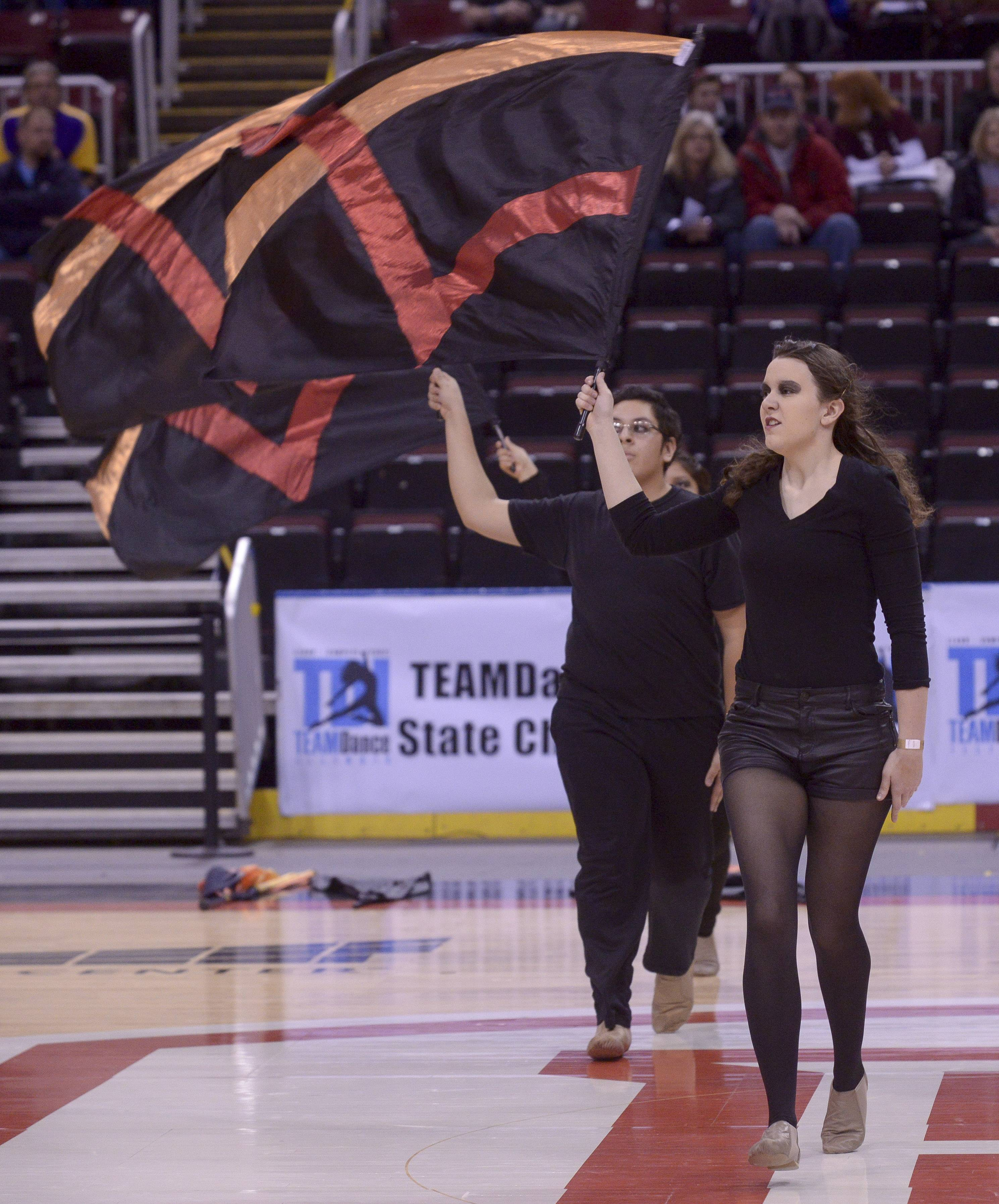 Rolling Meadows High School performs in the Varsity Flag Open Flag category during the TEAMDance Illinois 2014 Grand Championship in Peoria, Sunday March 2nd.