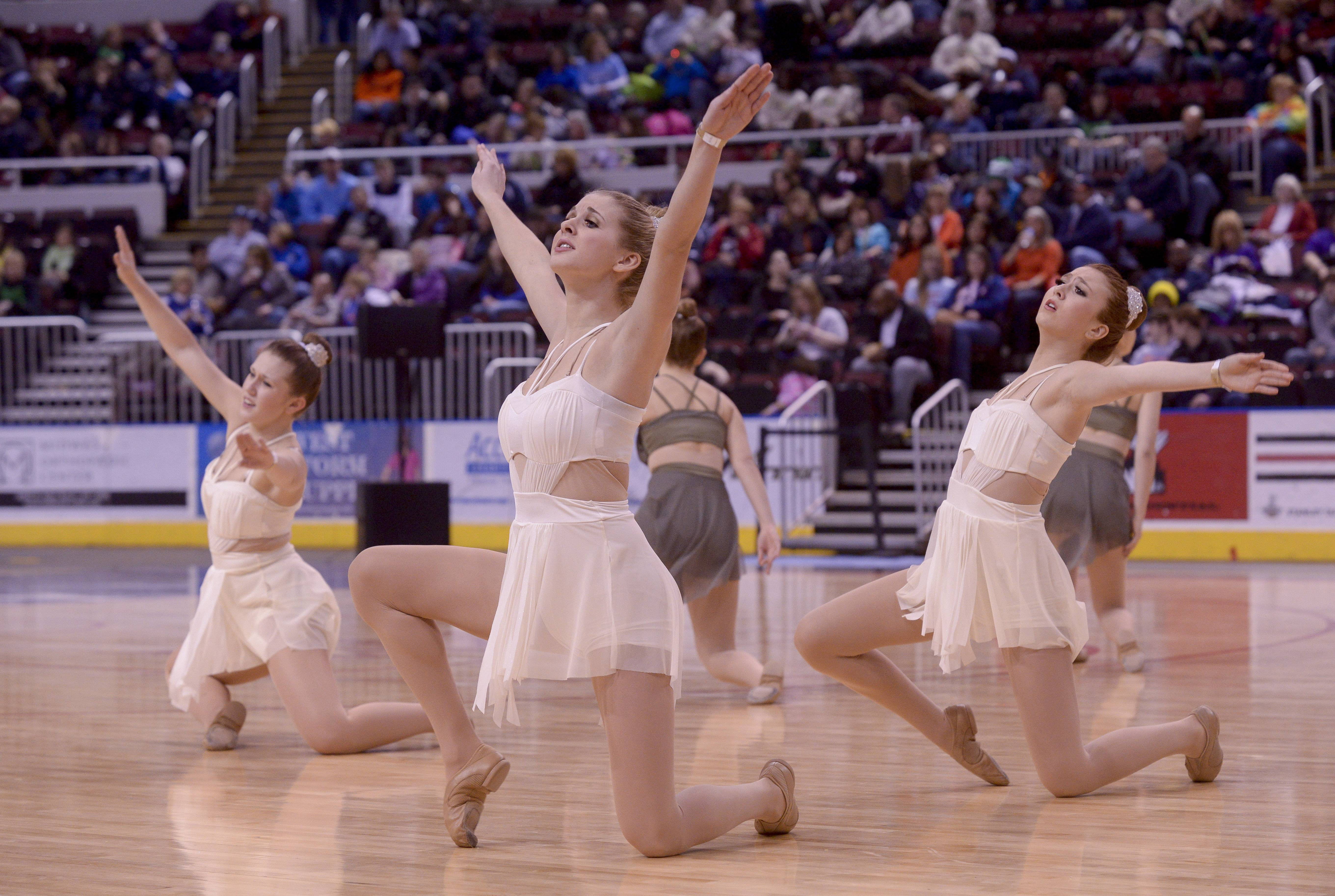 Batavia High School performs in the 2A Open Dance category during the TEAMDance Illinois 2014 Grand Championship in Peoria, Sunday March 2nd.