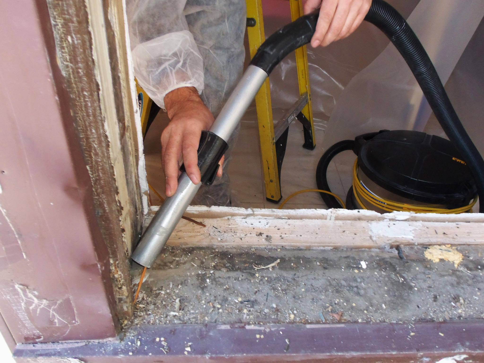 Windows and door frames are the most problematic contact points for lead paint. The frequent surface friction turns the paint into lead dust that is easily inhaled.
