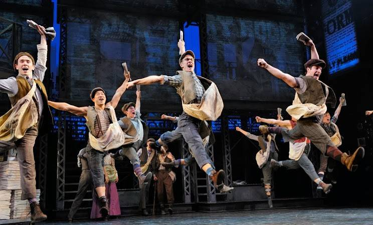 "The Broadway production of ""Newsies."""