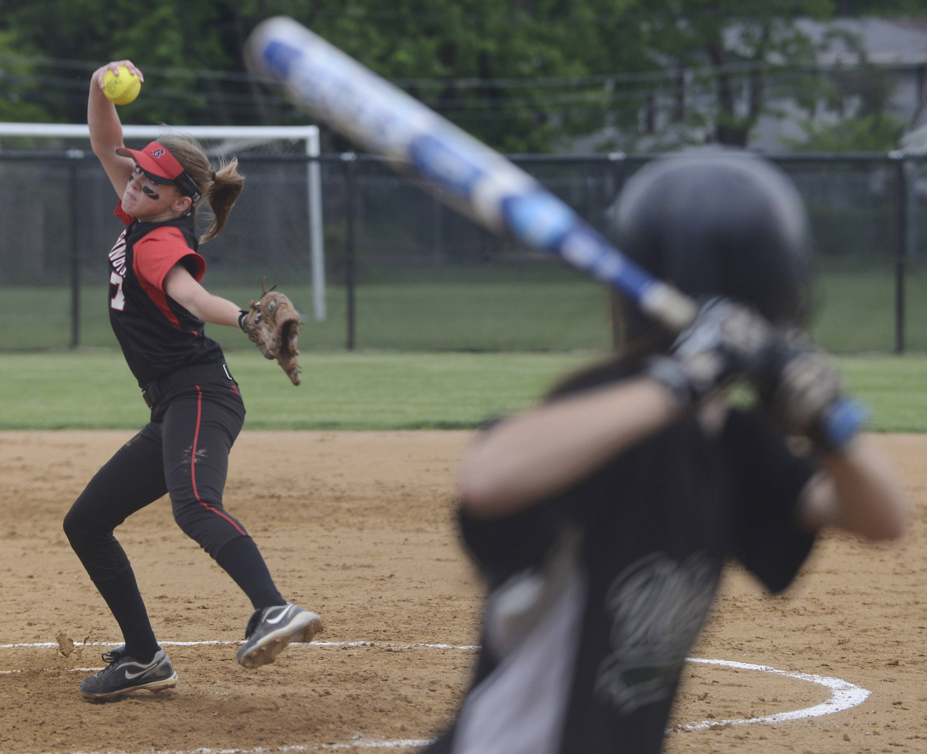 Barrington junior Keenan Dolezal delivers against Fremd last season; she'll pitch for Loyola in her collegiate years.