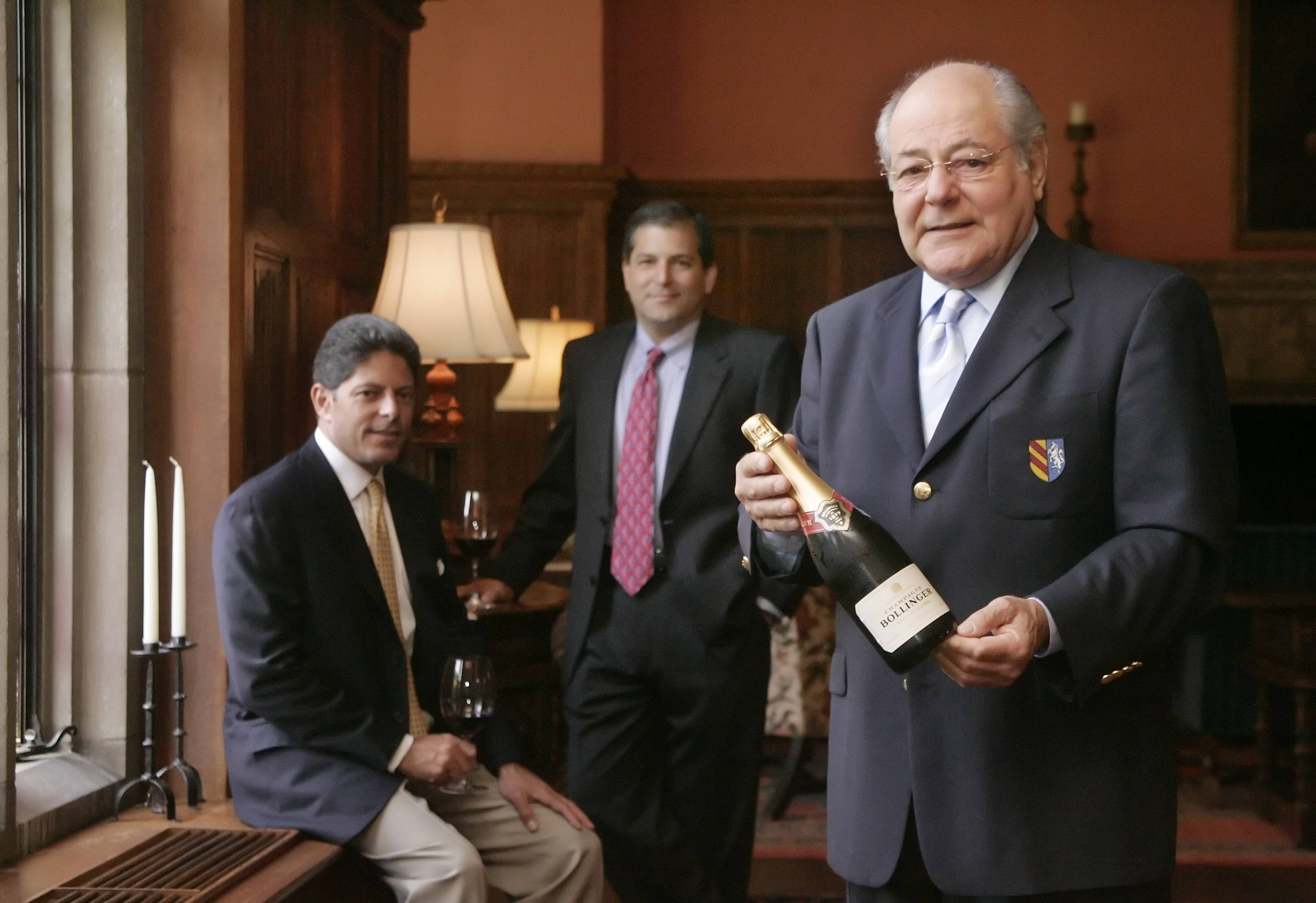 Sons John and Bill Terlato and their father, Anthony Terlato, of Terlato Wines in Lake Bluff in this file photo.