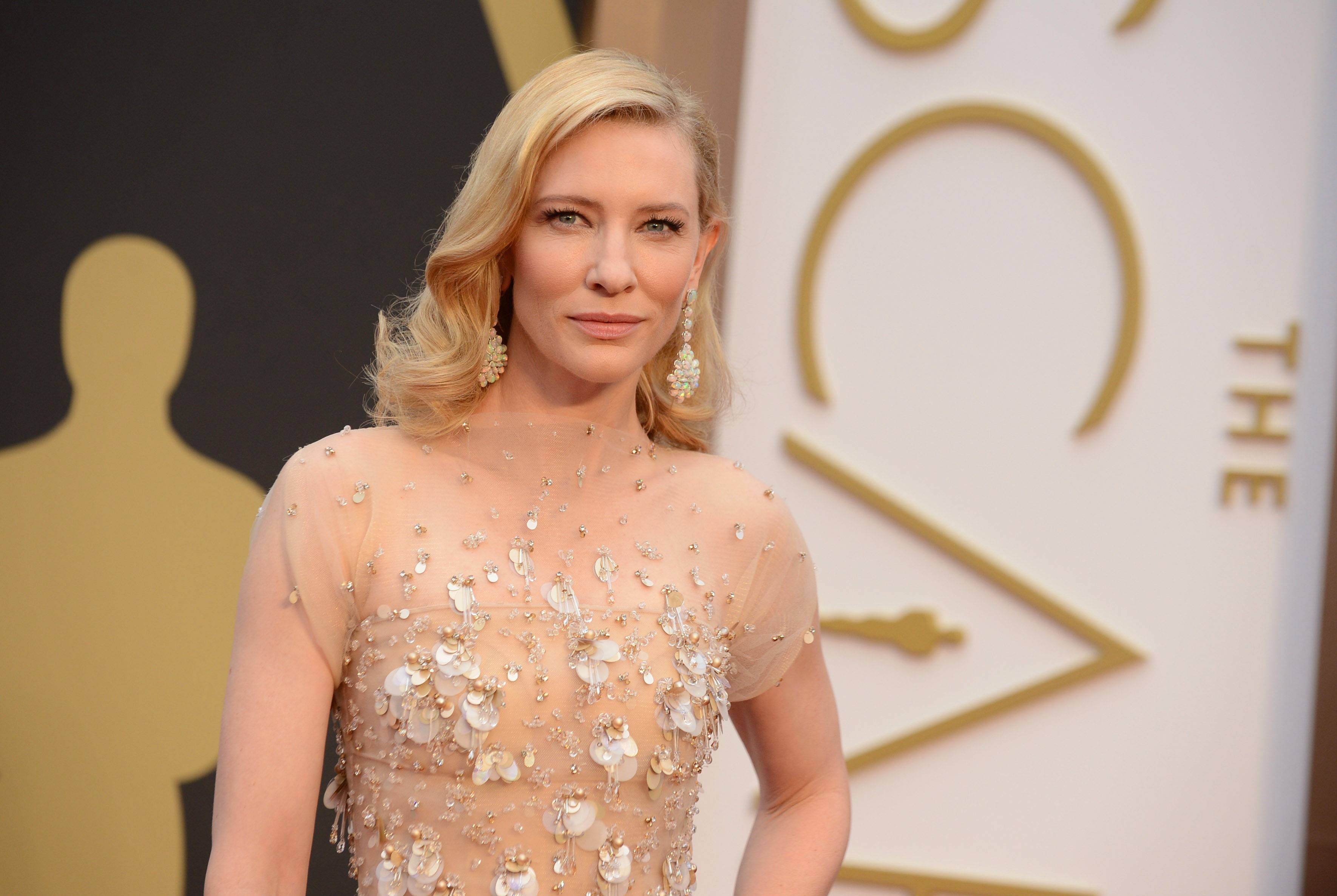 Cate Blanchett went for more muted colors this year.