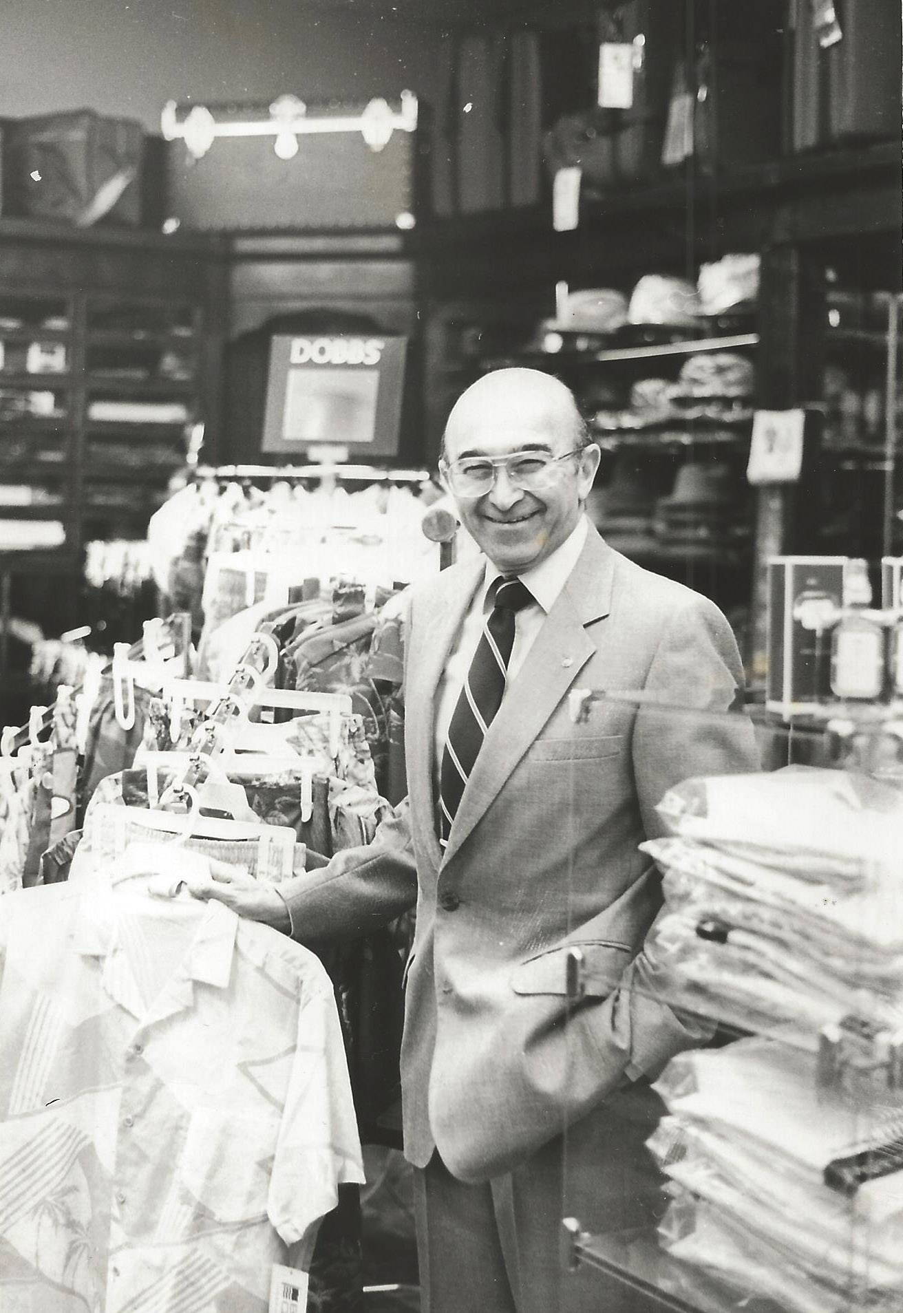 Harold Lipofsky took over Lipofsky's Department Store in Barrington when he returned from service in World War II.