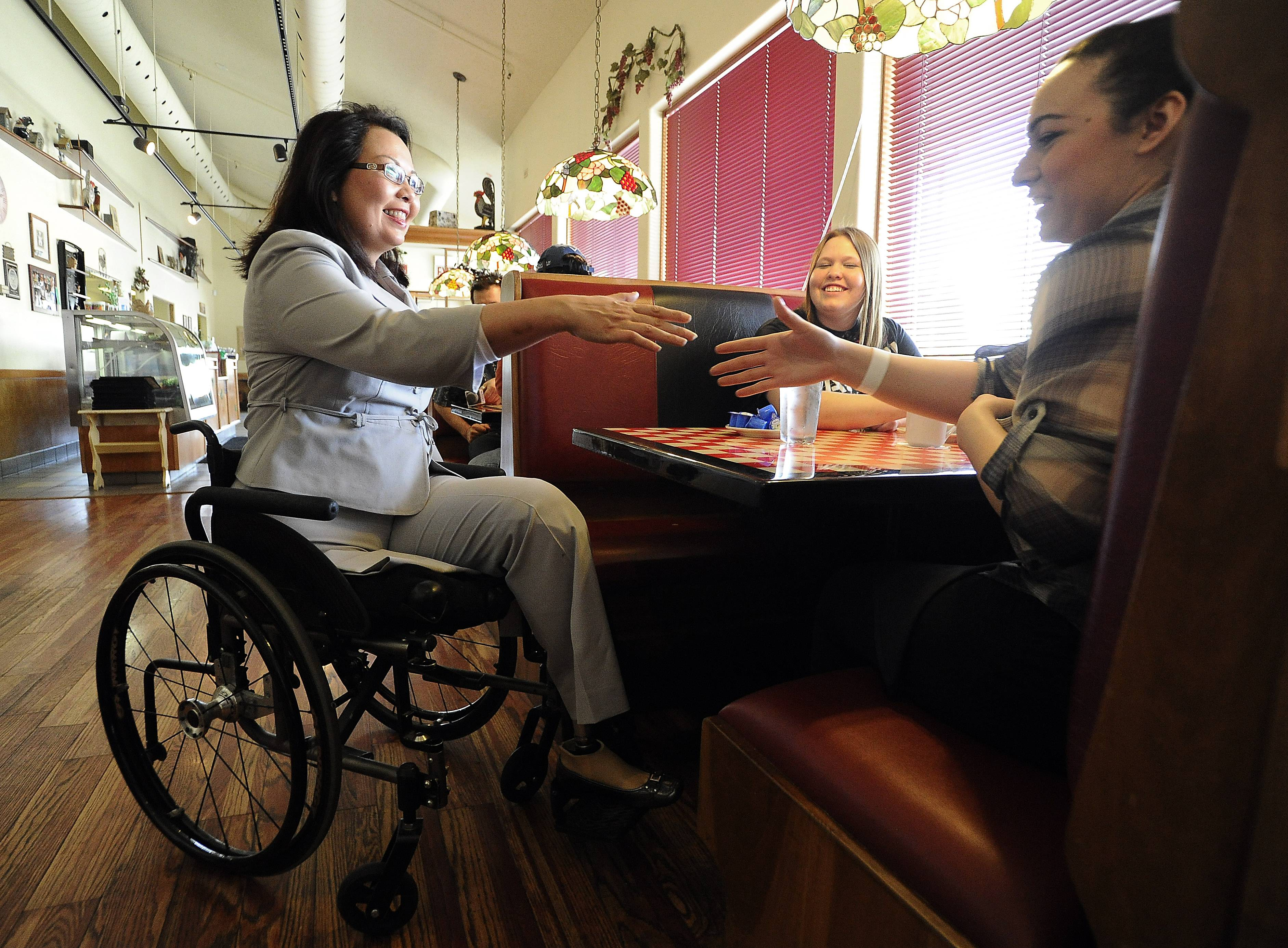 U.S. Rep. Tammy Duckworth, a Hoffman Estates Democrat, won't head to Sochi for the Paralympic Games as part of a federal delegation.
