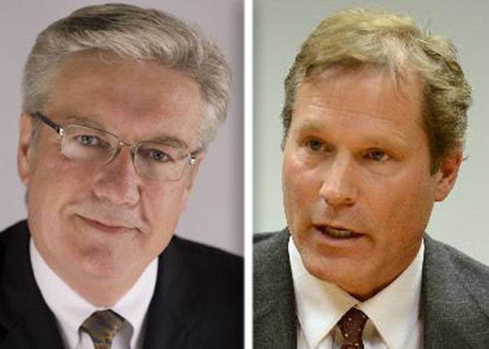 Democrats Dennis Anderson, left, and John Hosta are candidates in the race for the 14th Congressional District.