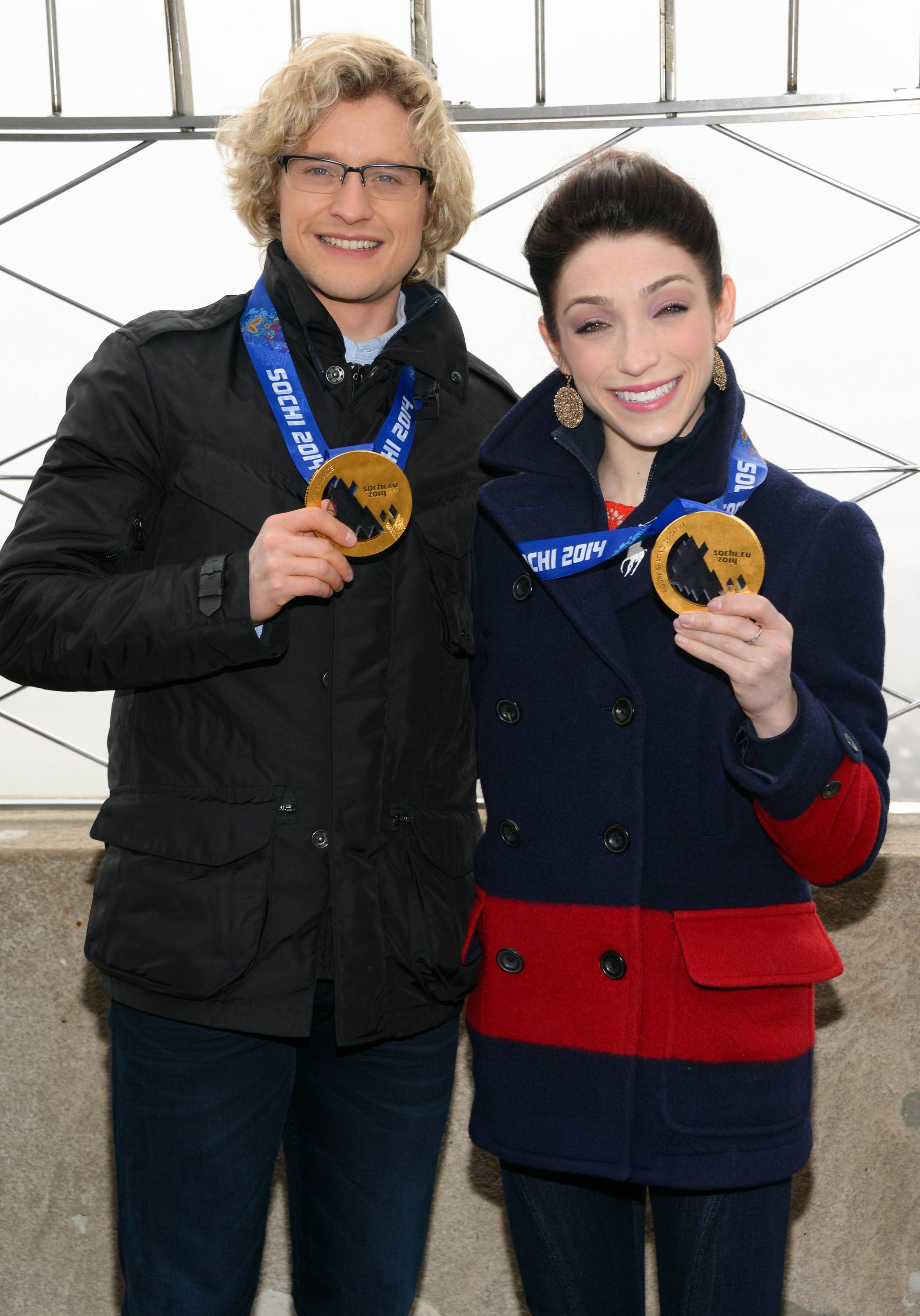 "Olympic gold medalist ice dancers Charlie White and Meryl Davis will compete against, instead of with, each other on the newest season of ABC's ""Dancing With the Stars,"" which begins March 17."