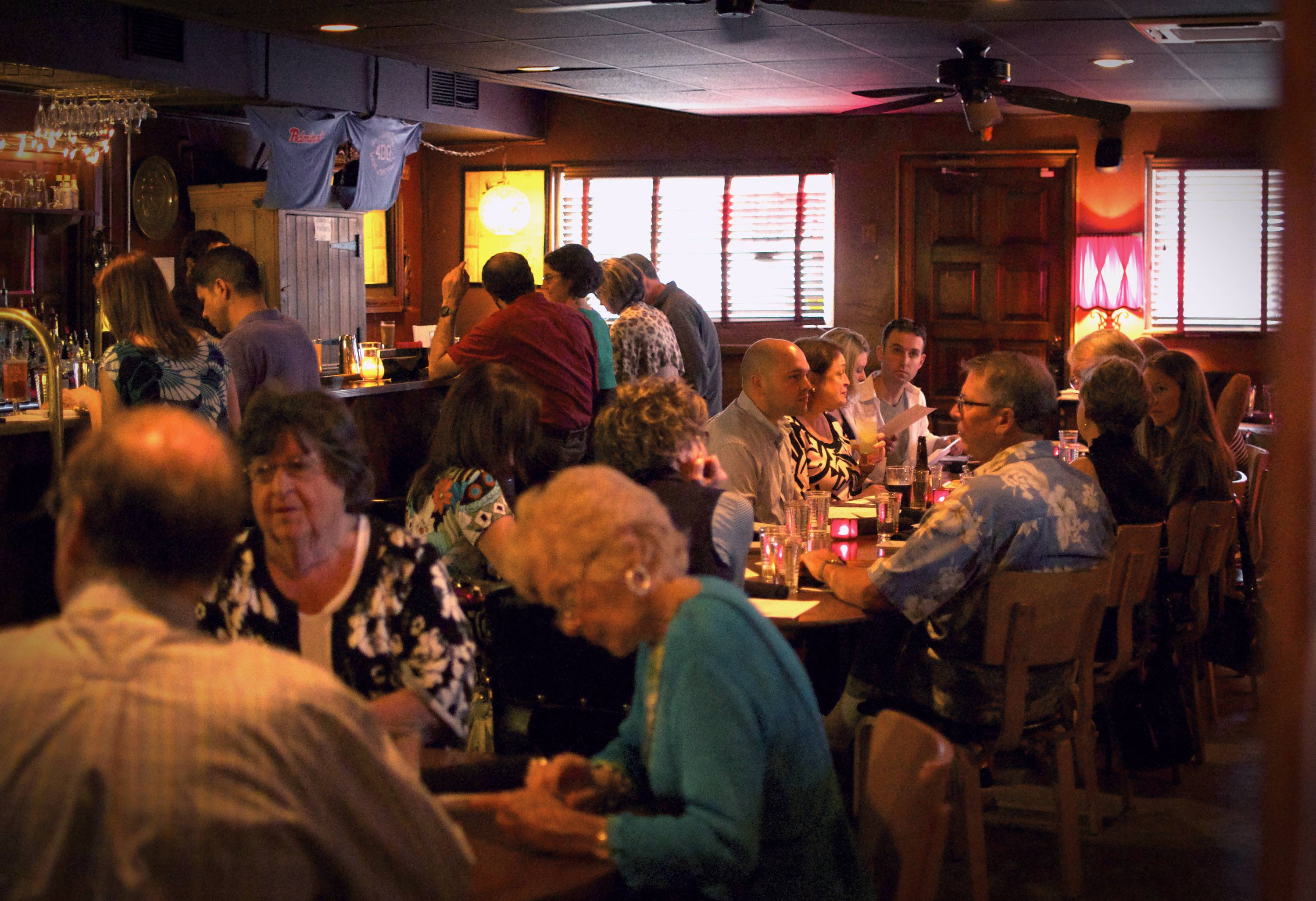 Boomers, hipsters, business execs and obvious out-of-towners pack the Admiral in Asheville, N.C.