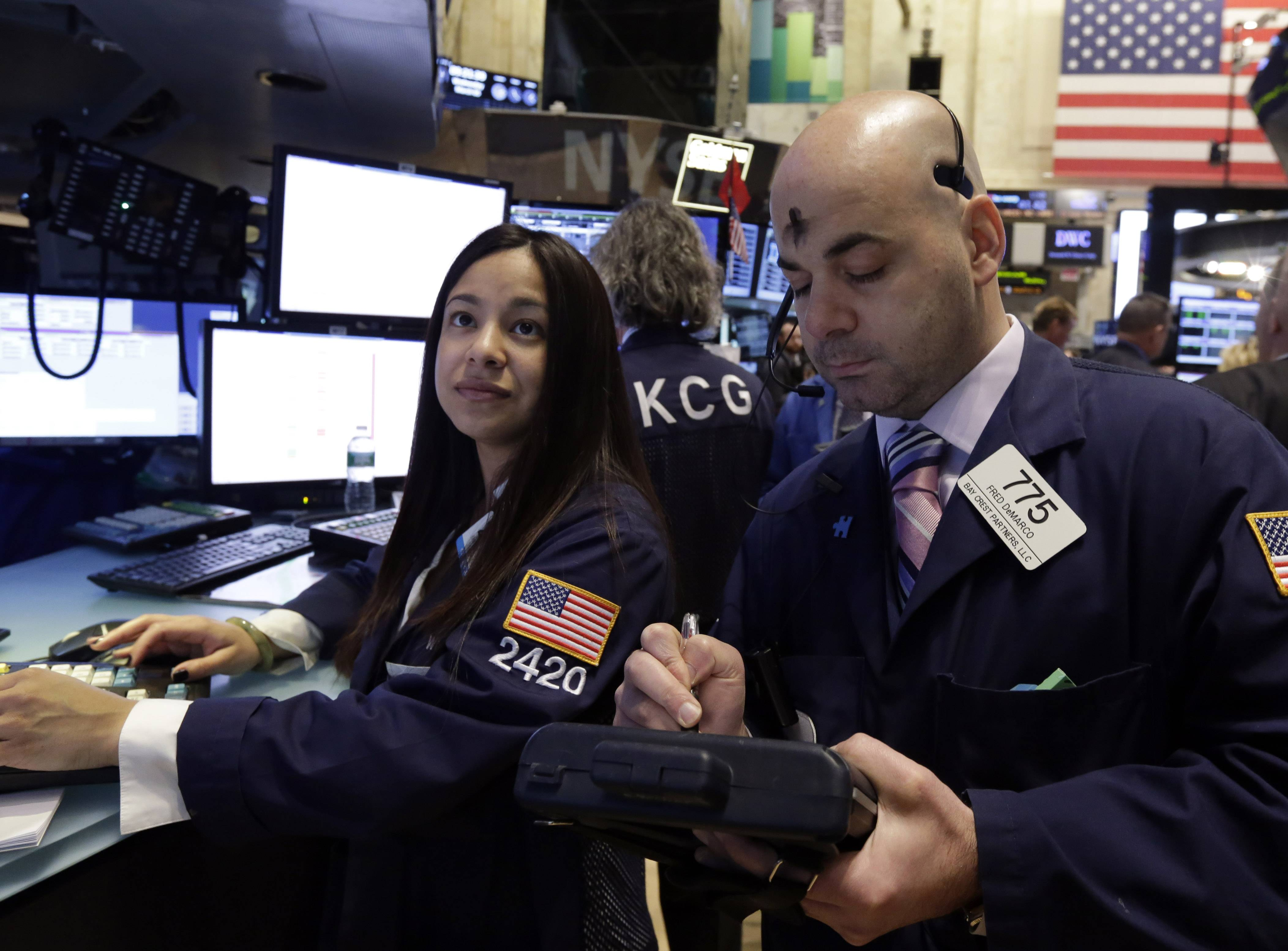 U.S. stocks were little changed Wednesday, after the Standard & Poor's 500 Index had risen the most this year a day earlier, as investors assessed the Ukraine crisis and weaker-than-estimated data on payrolls and services.