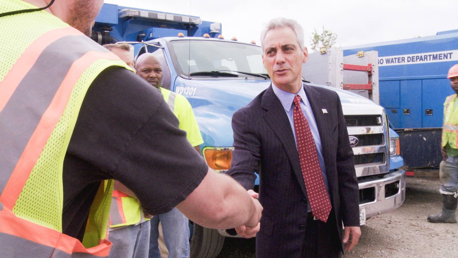"Chicago Mayor Rahm Emanuel in a scene from the CNN documentary, ""Chicagoland."" The 8-episode series will debut on Thursday, March 6 at 9 p.m. on CNN."
